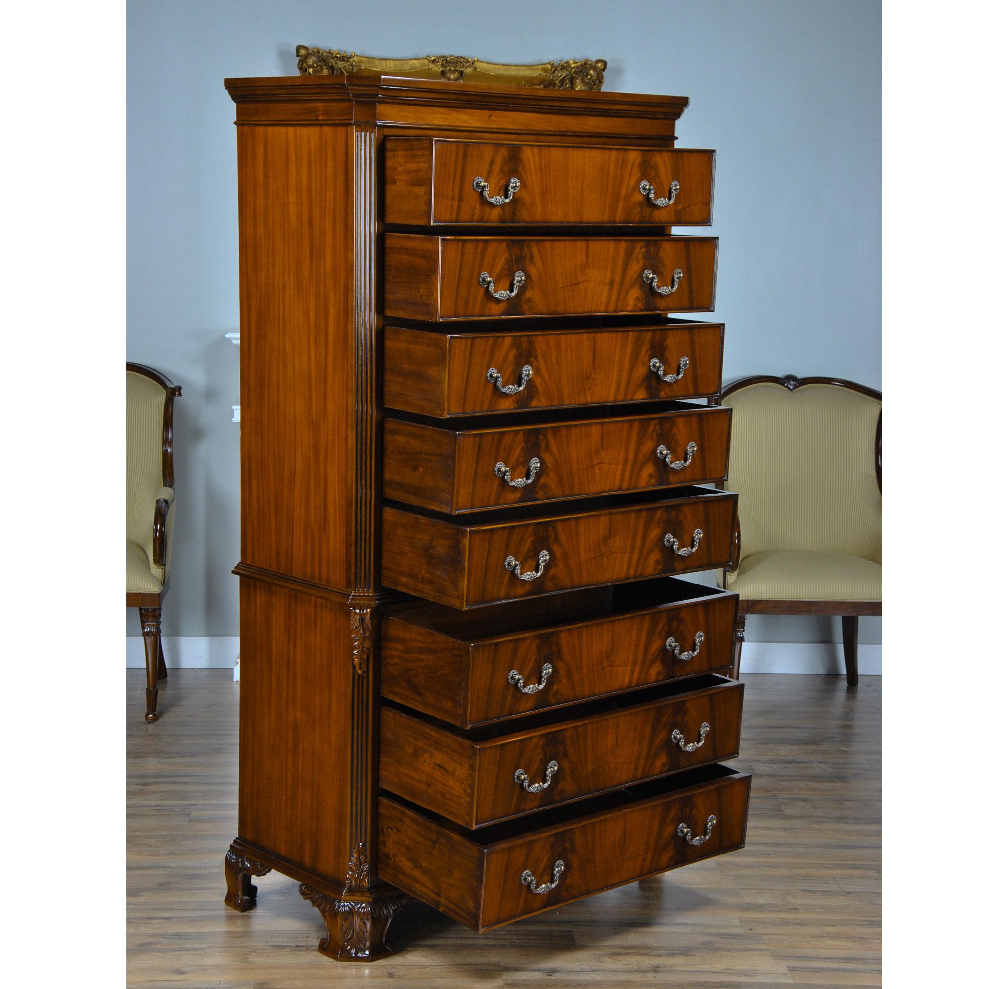 mahogany chippendale tall chest niagara furniture mahogany bedroom. Black Bedroom Furniture Sets. Home Design Ideas