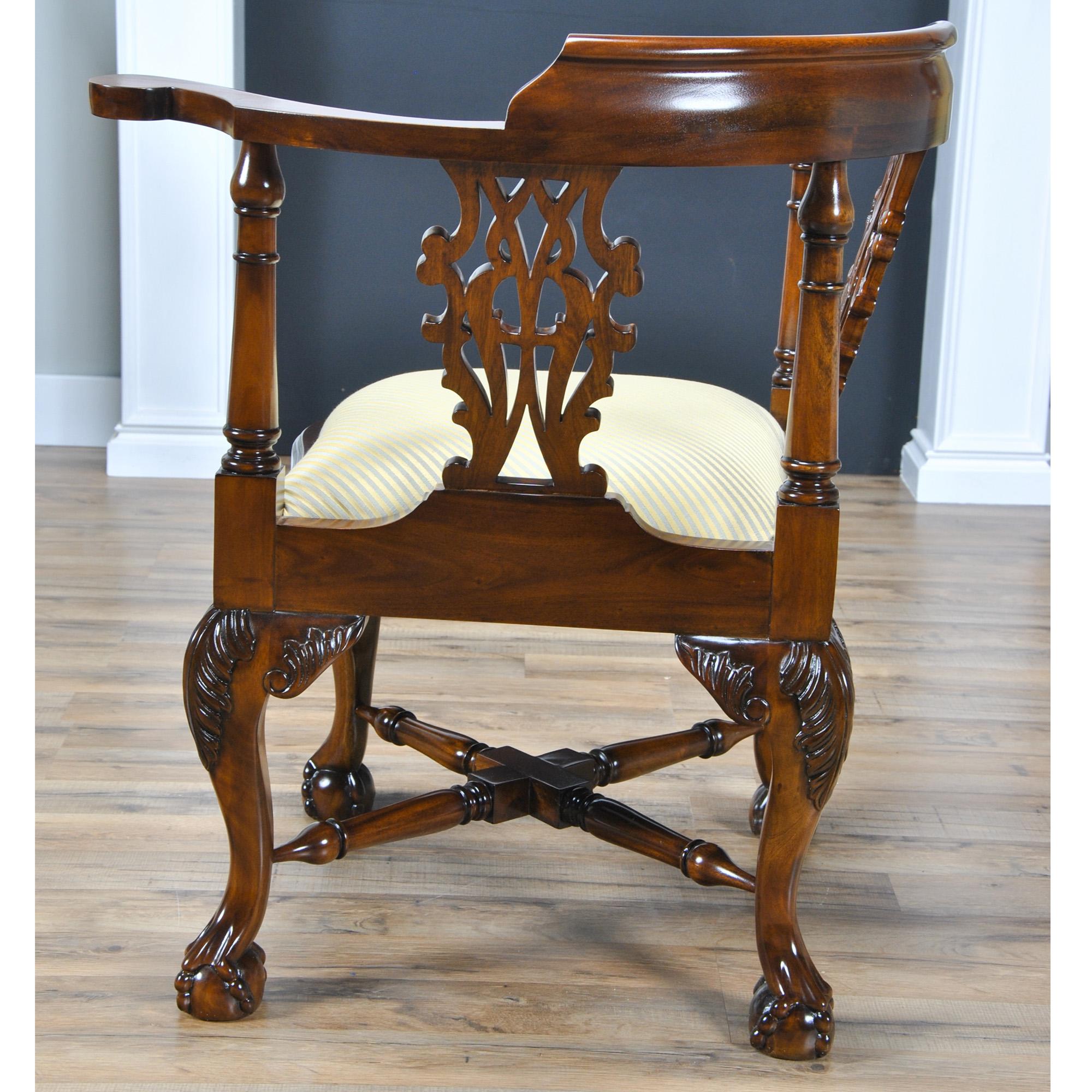 Large Corner Chair Niagara Furniture Solid Mahogany Chair