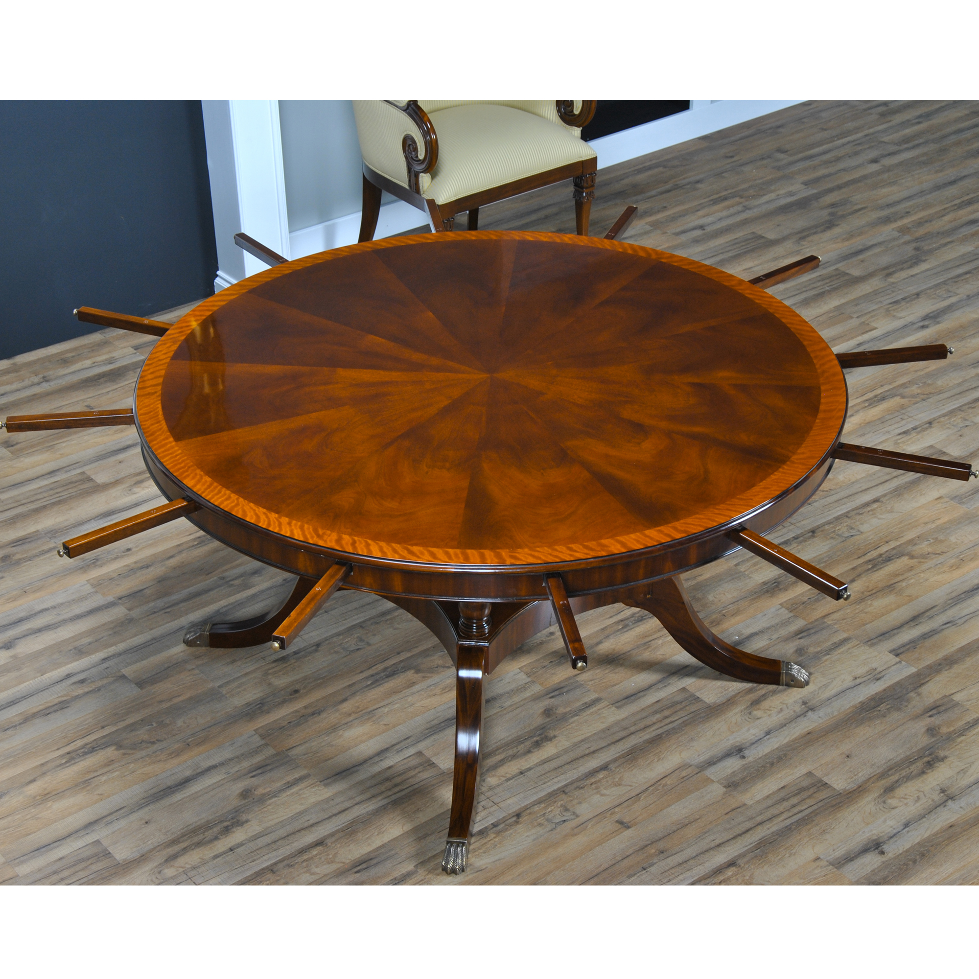 dining room tables 84 inch round perimeter table ndrt047
