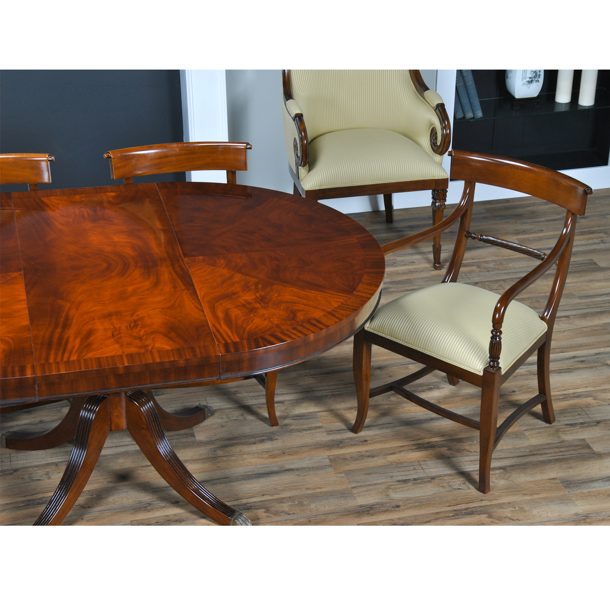 "Dining Table Rollins Dining Table: 48"" Round Dining Table, Niagara Furniture, Round Mahogany"