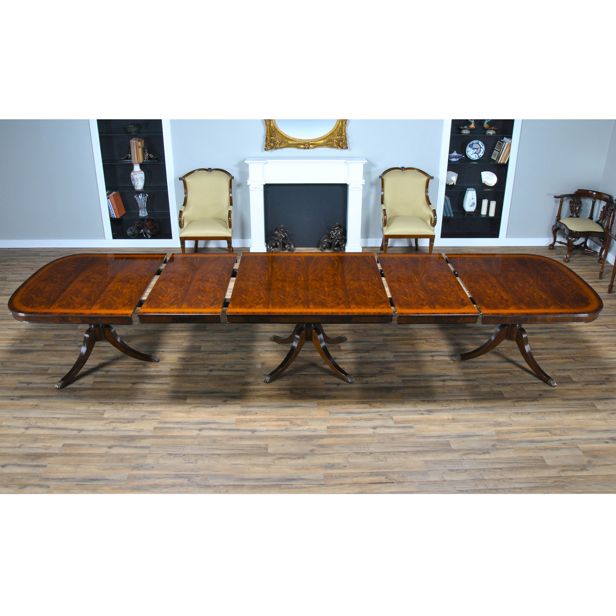 Foot Mahogany Dining Table Three Pedestal Dining Table - 15 foot conference table