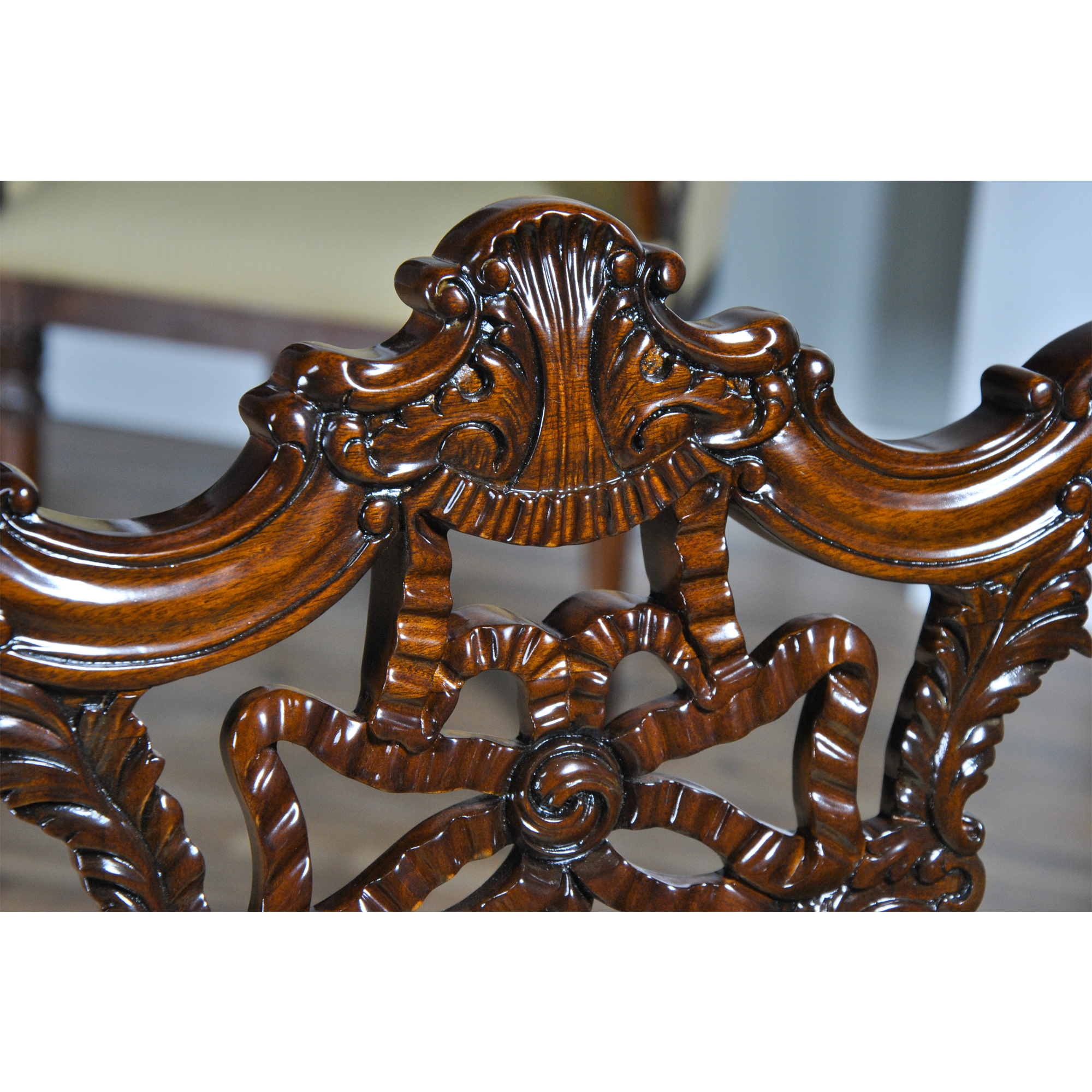Carved Mahogany Chippendale Chairs Set Of 10 Niagara