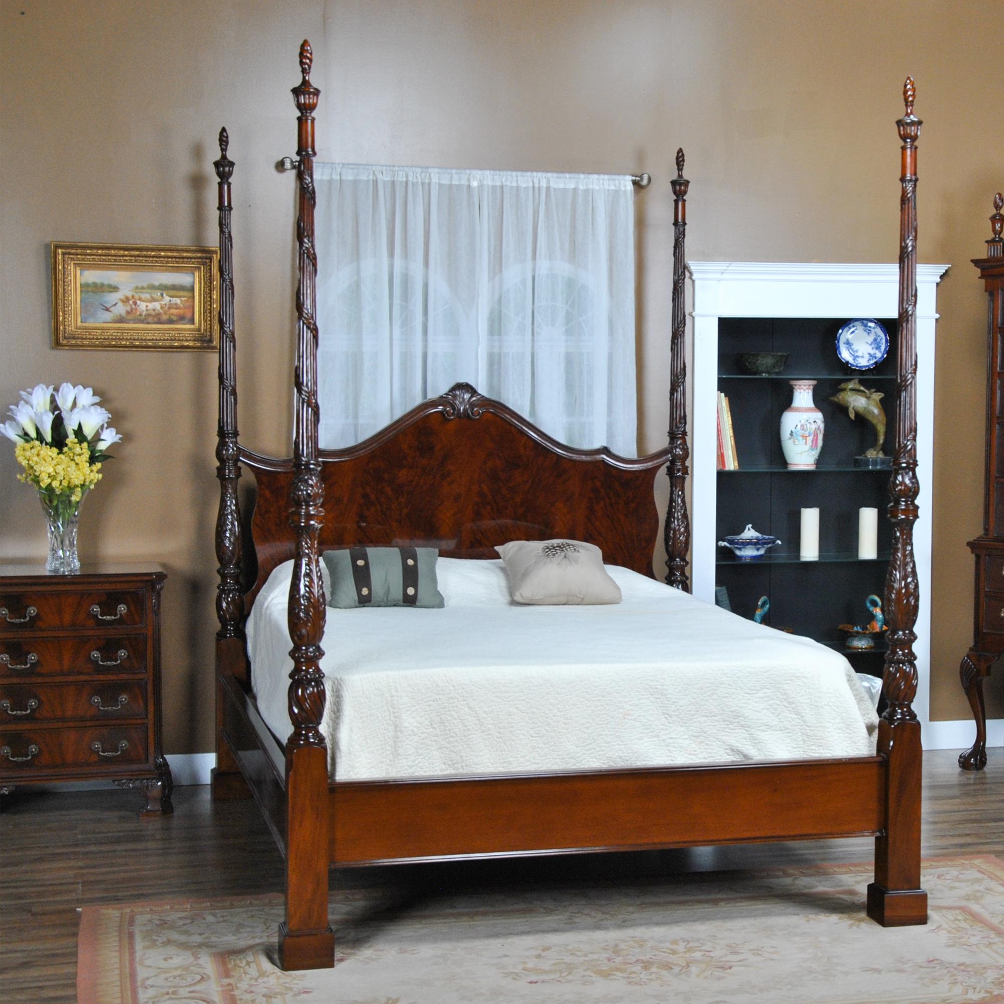 King Size Mahogany Four Poster Bed Niagara Furniture