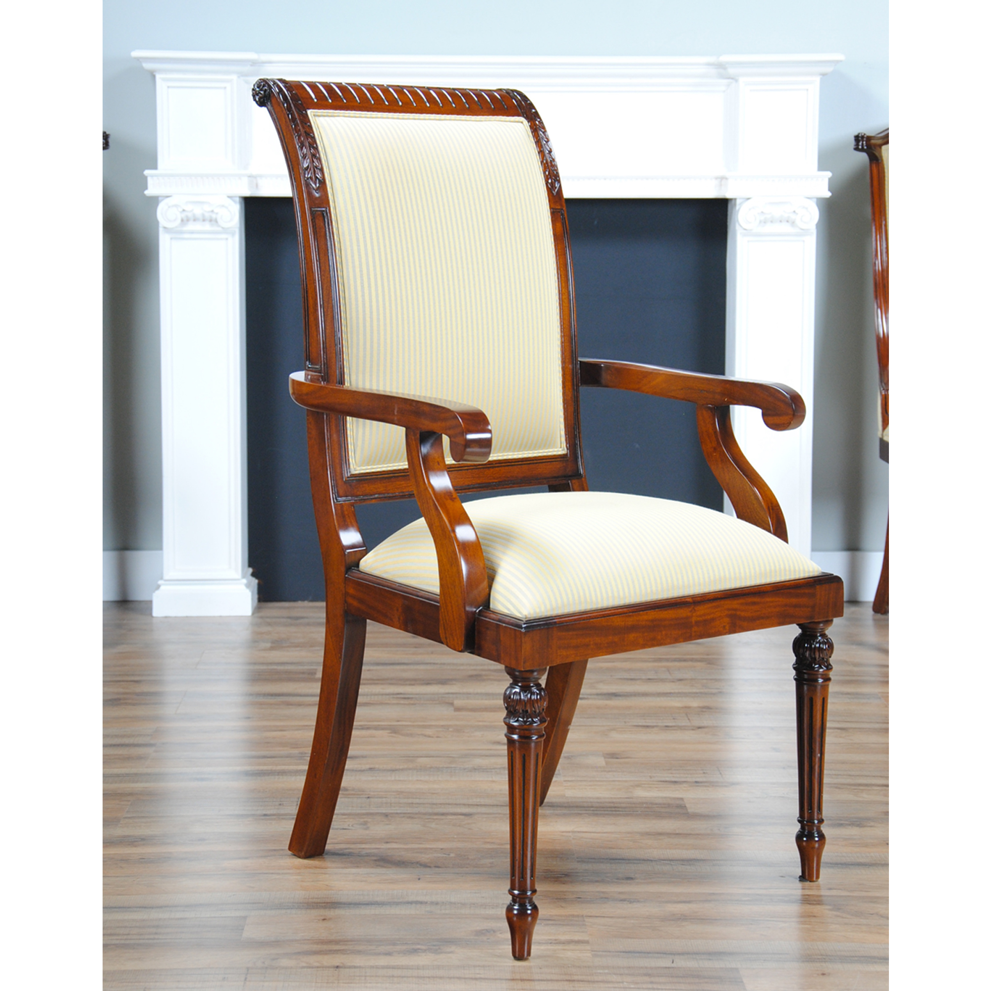 Tall Back Upholstered Arm Chair, Niagara Furniture, Free Shipping