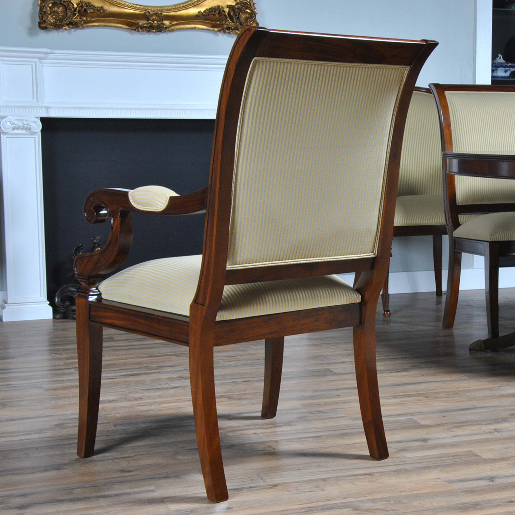 Upholstered Dining Room Chair: Regency Upholstered Dining Chair :: NDRAC056