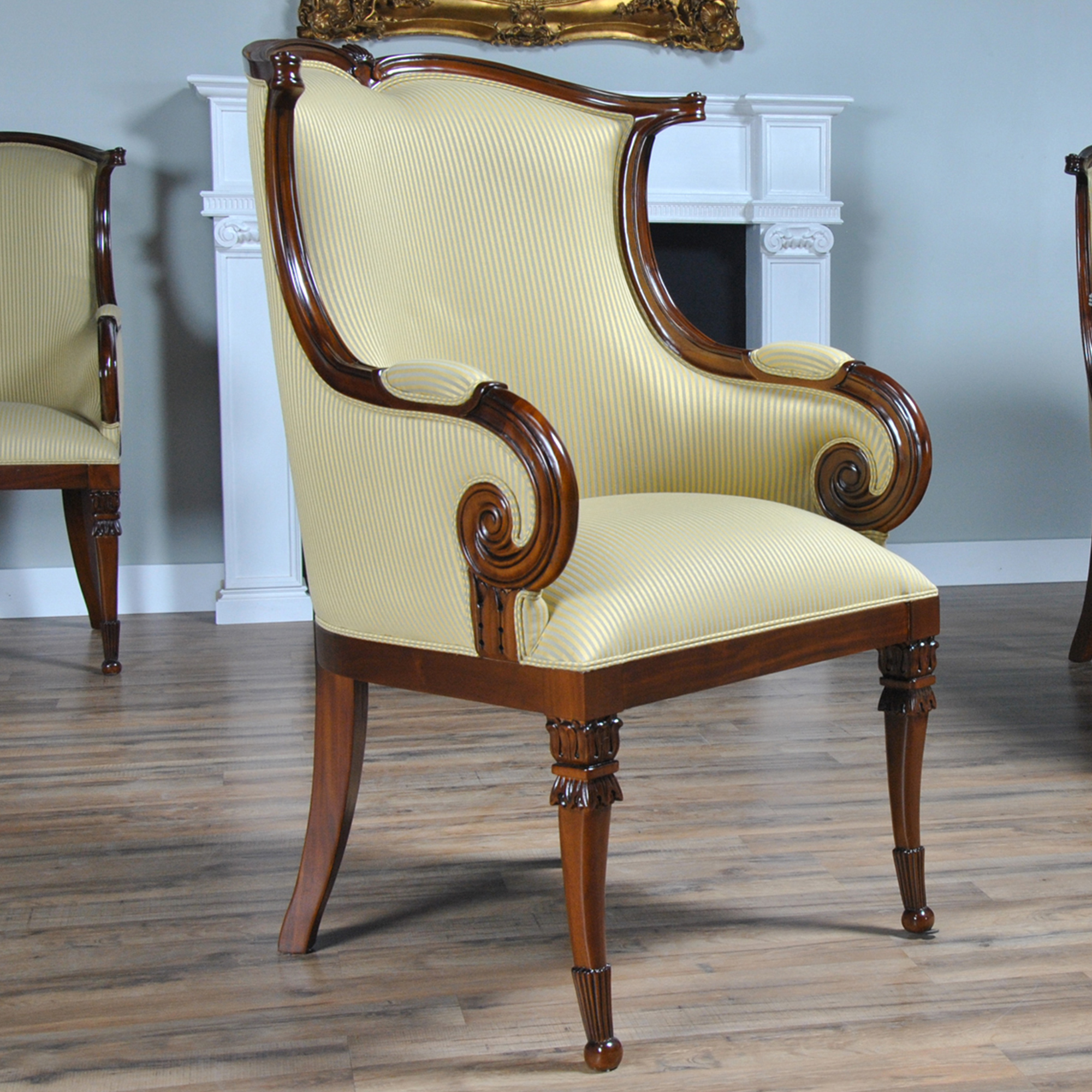 American Upholstered Arm Chair, Niagara Furniture, solid