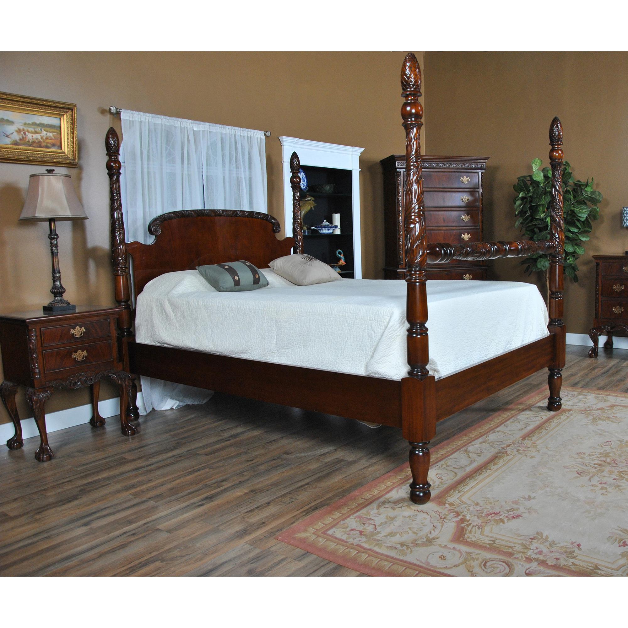 king size mahogany poster bed niagara furniture mahogany bed