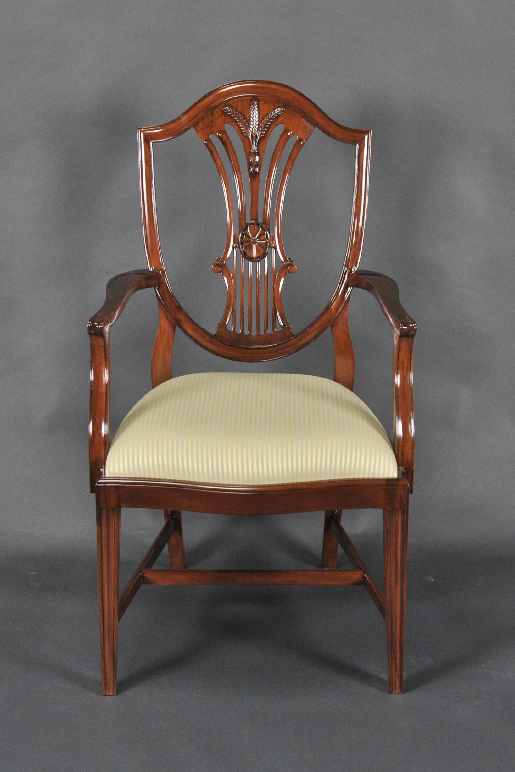 Shield Back Dining Chairs Set Of 10 Ndrac057z