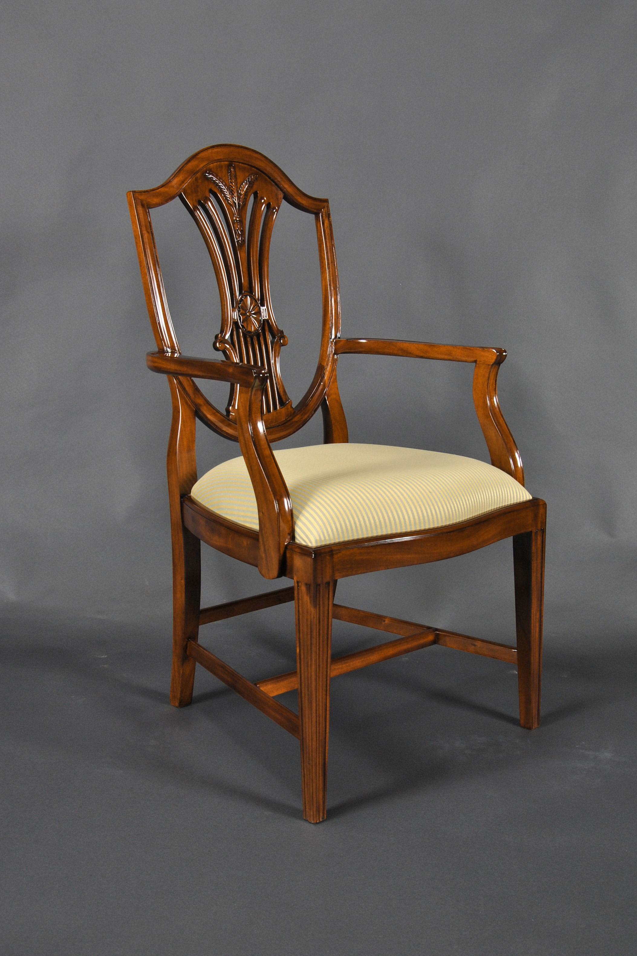 Shield Back Dining Room Arm Chair, Niagara Furniture, Free