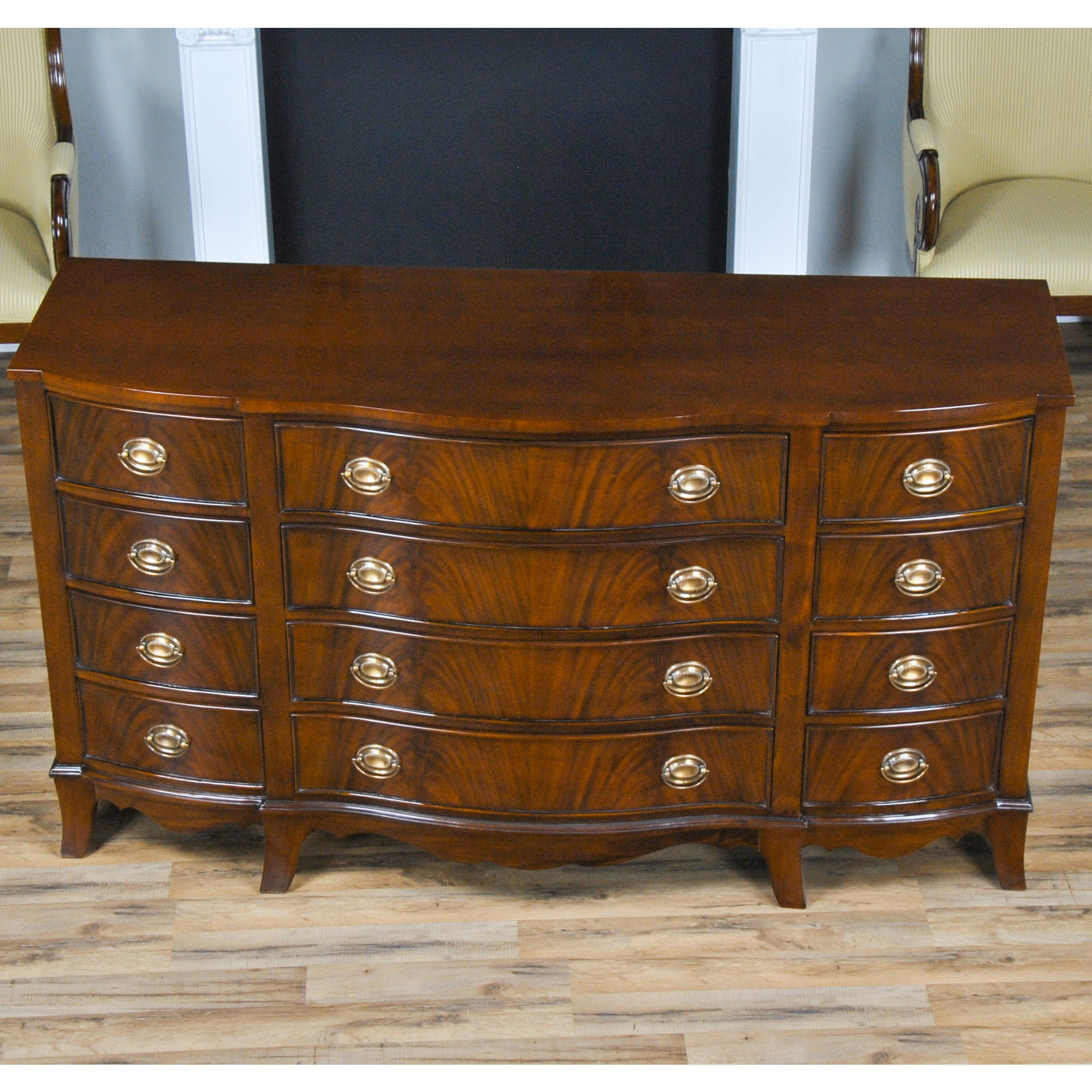 Mahogany triple dresser niagara furniture mahogany bedroom for Mahogany bedroom furniture