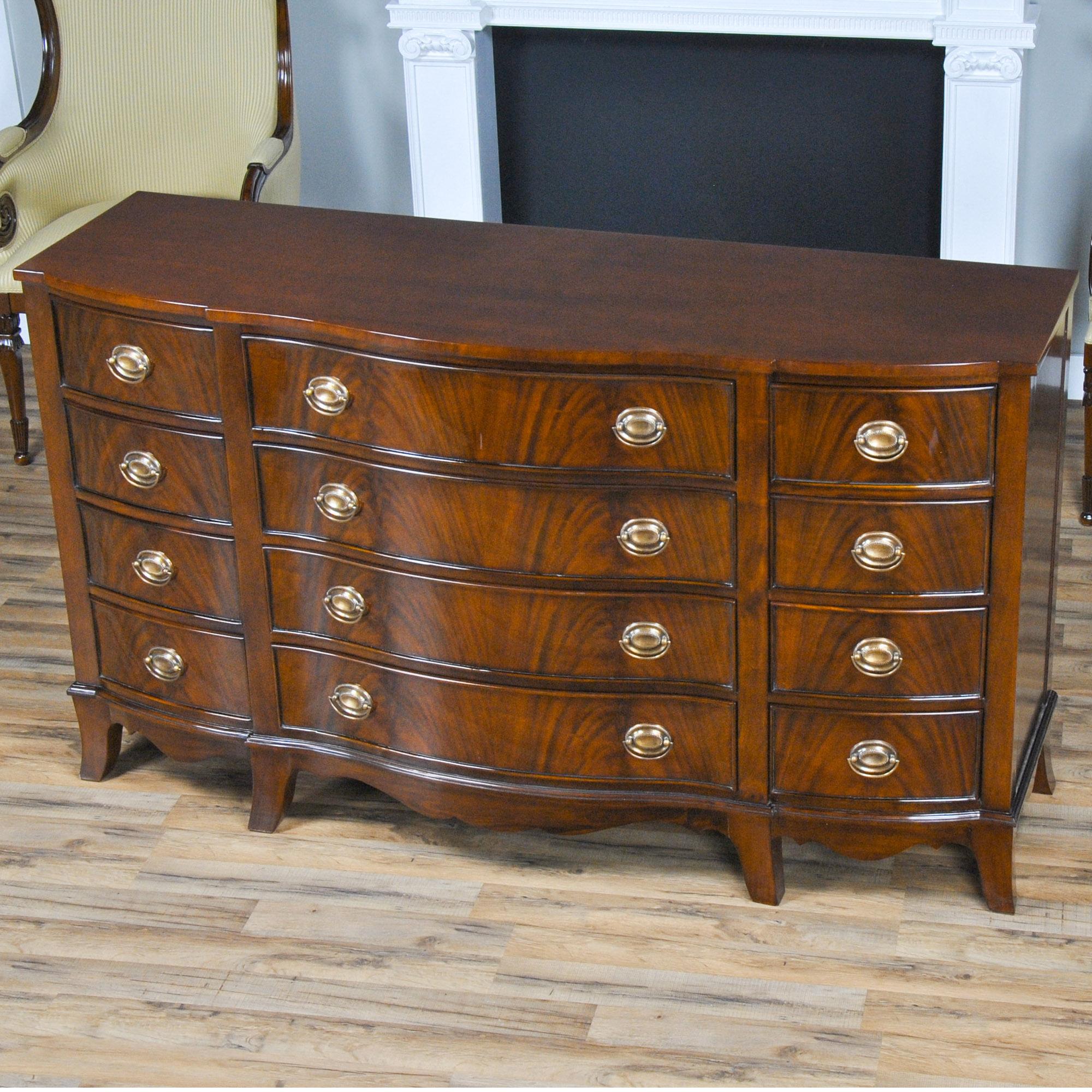 Mahogany Triple Dresser, Niagara Furniture, Mahogany Bedroom