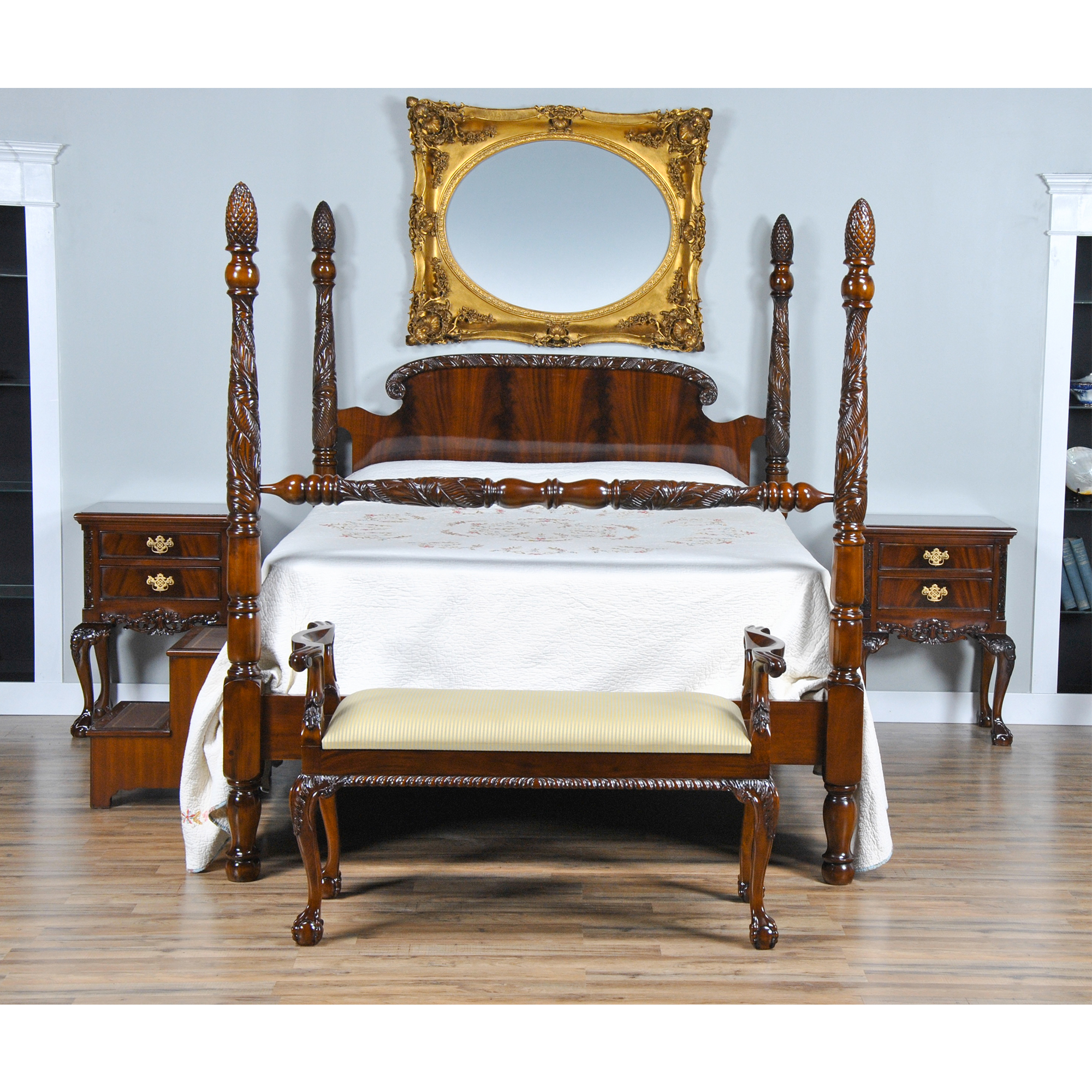 Mahogany Queen Size Poster Bed, Niagara Furniture, Poster Bed