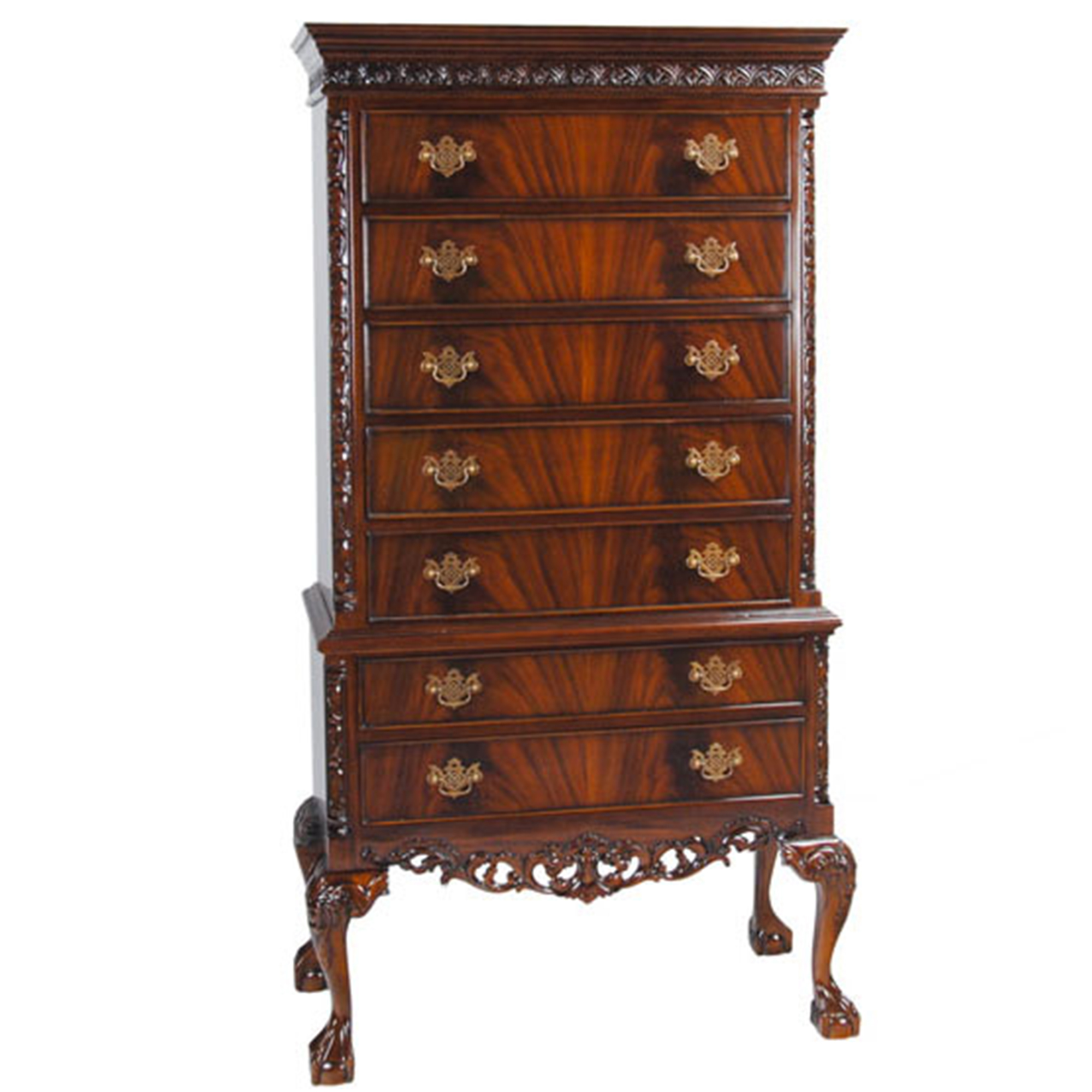 Home furniture bedroom chippendale mahogany high for Furniture 0ne