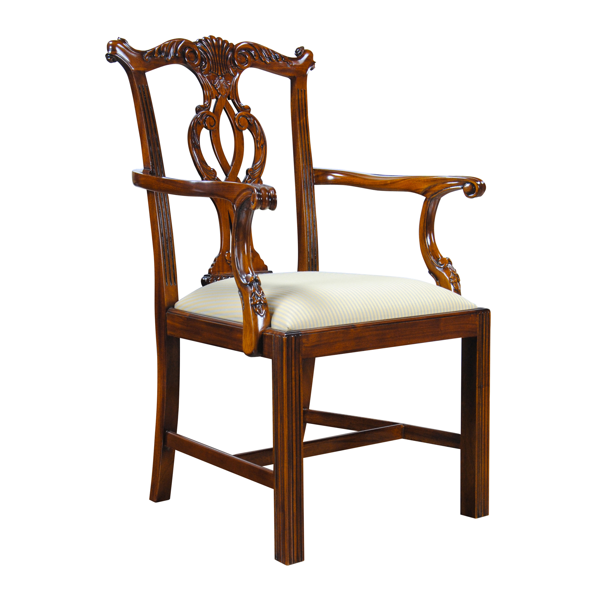 Solid Mahogany Chippendale Arm Chair Niagara Furniture