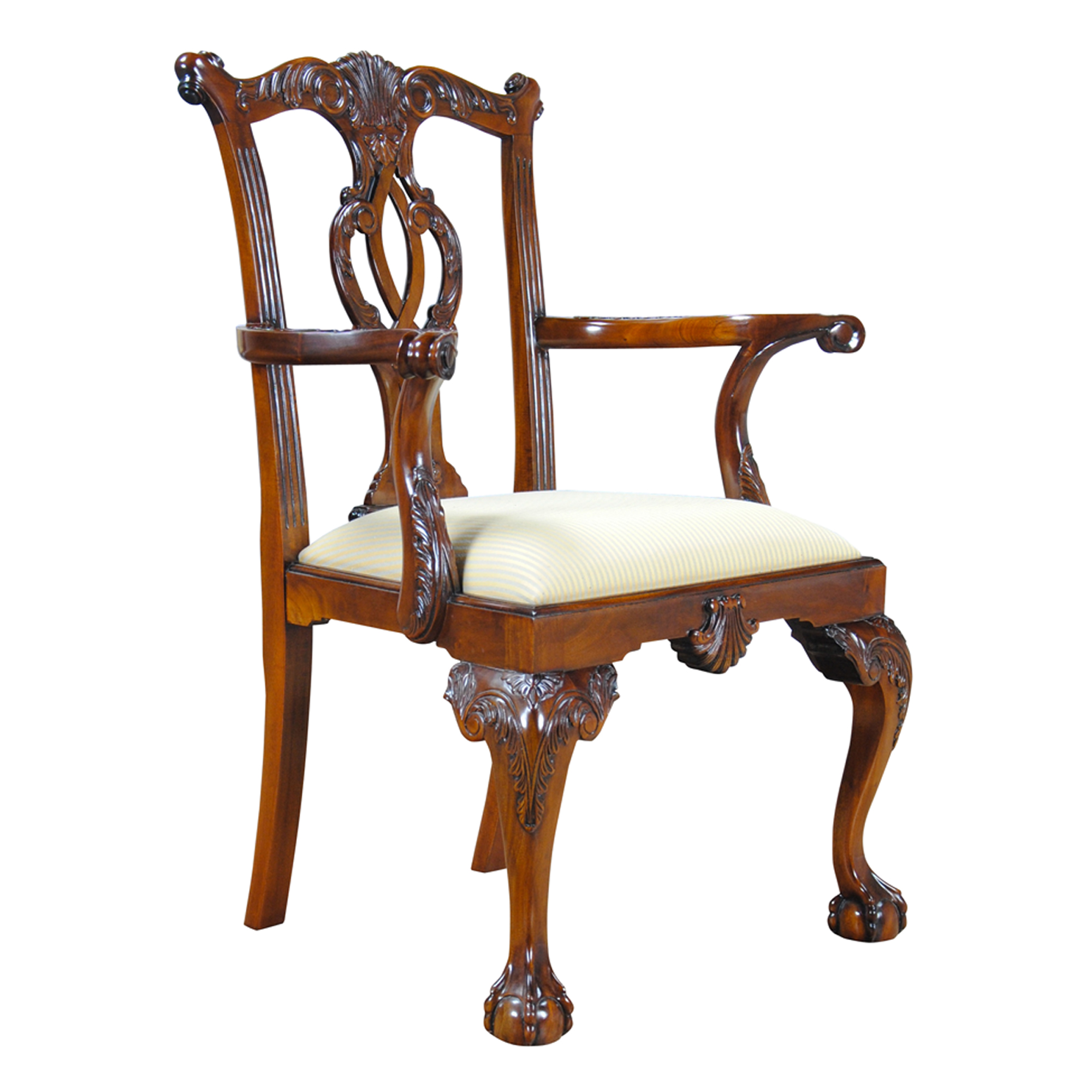 Chippendale Furniture: Philadelphia Chippendale Arm Chair, Niagara Furniture