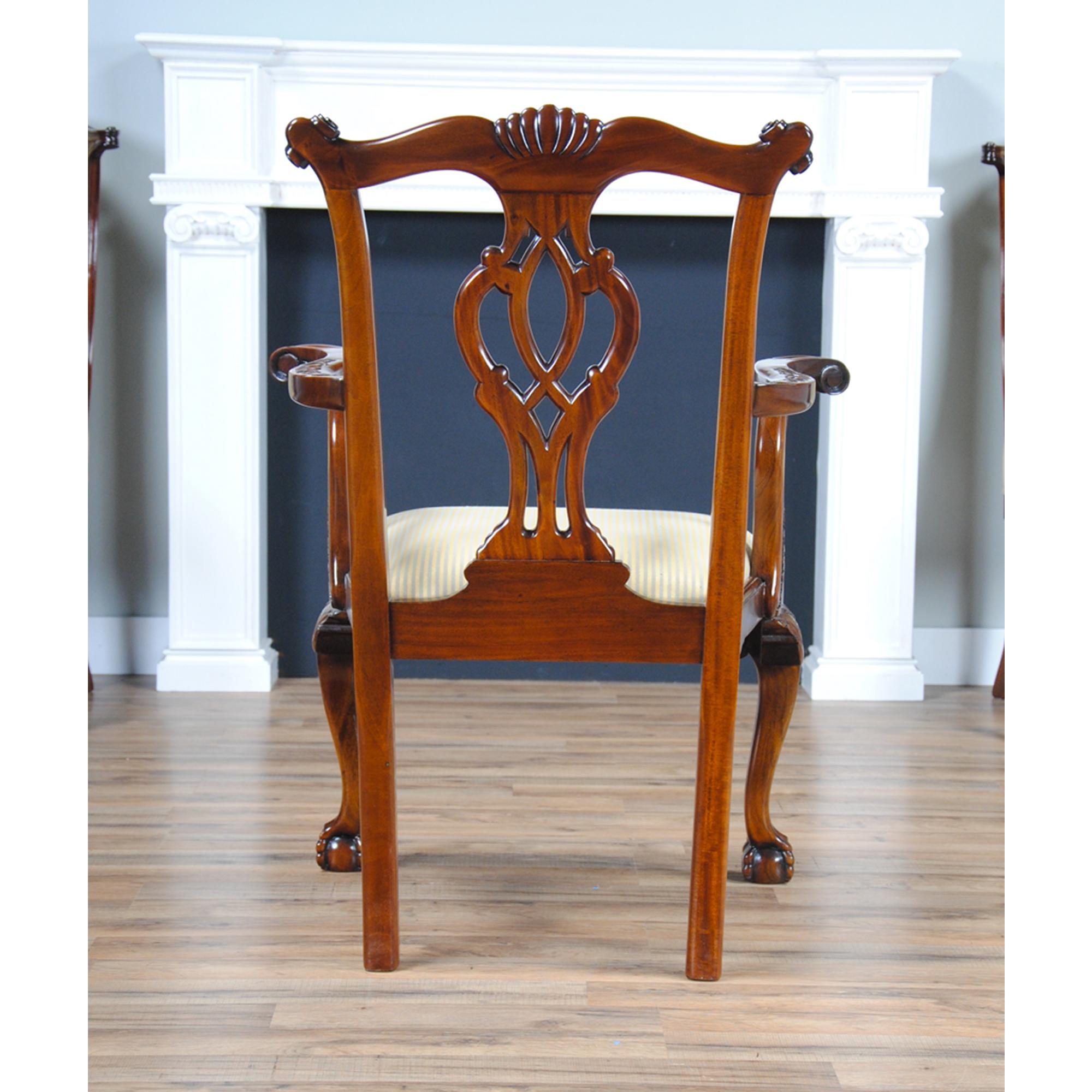 Philadelphia Chippendale Arm Chair, Niagara Furniture