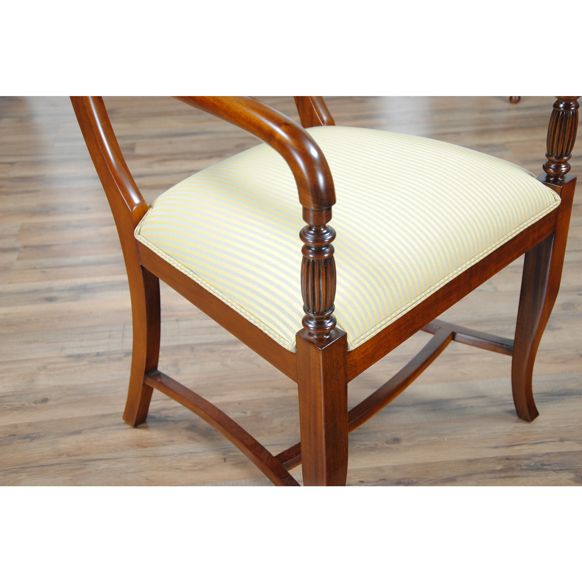 Twist Back Arm Chair Niagara Furniture Solid Mahogany Chair