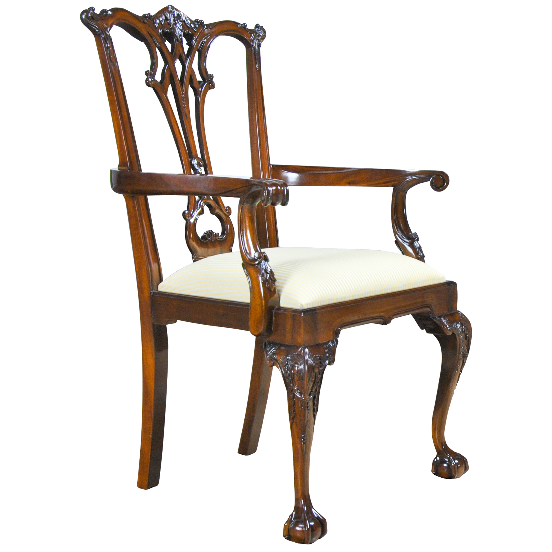 Gothic Mahogany Chippendale Arm Chair Niagara Furniture