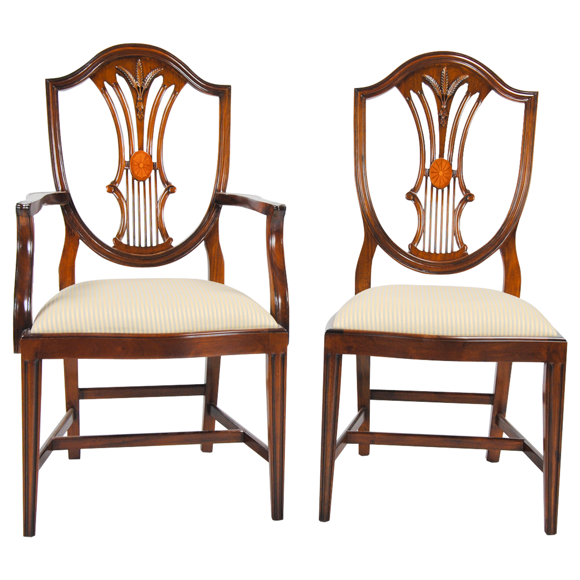 Shield Back Dining Room Chairs: Inlaid Shield Back Chairs, Set Of 10, Niagara Furniture