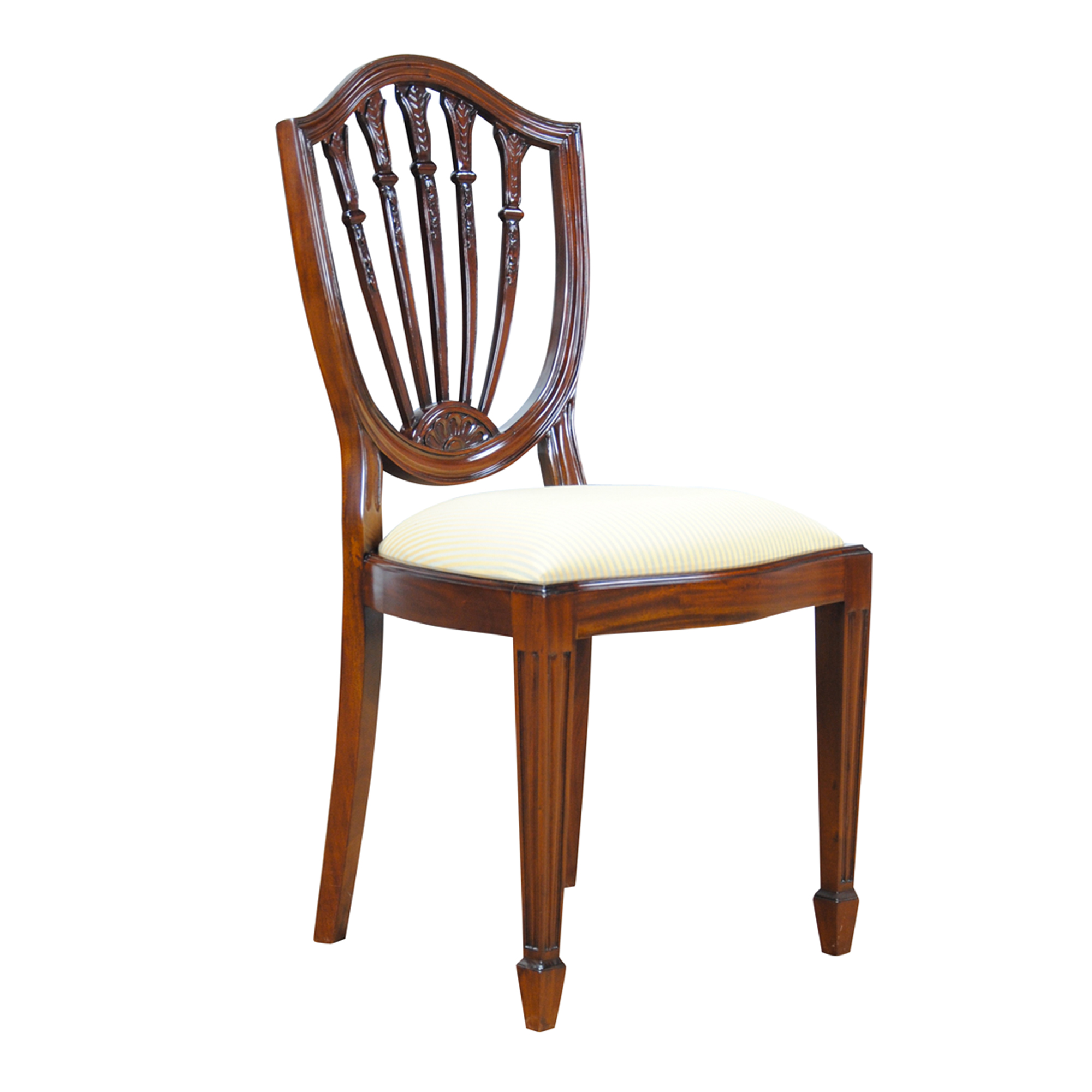Shield Back Dining Room Chairs: Shield Back Side Chair, Niagara Furniture, Solid Mahogany