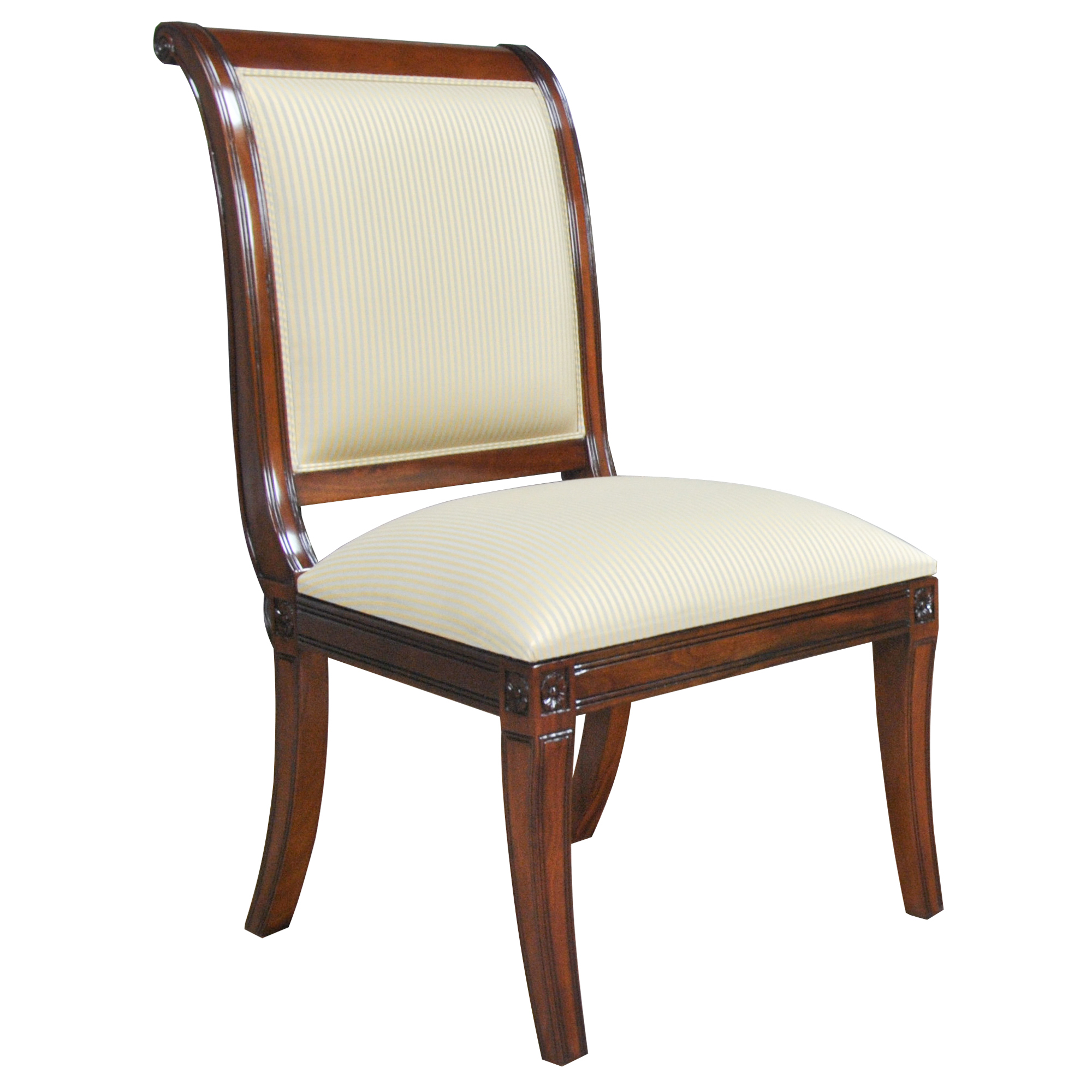 Home Furniture Dining Room Chairs Regency Upholstered Side Chair Ndrsc054