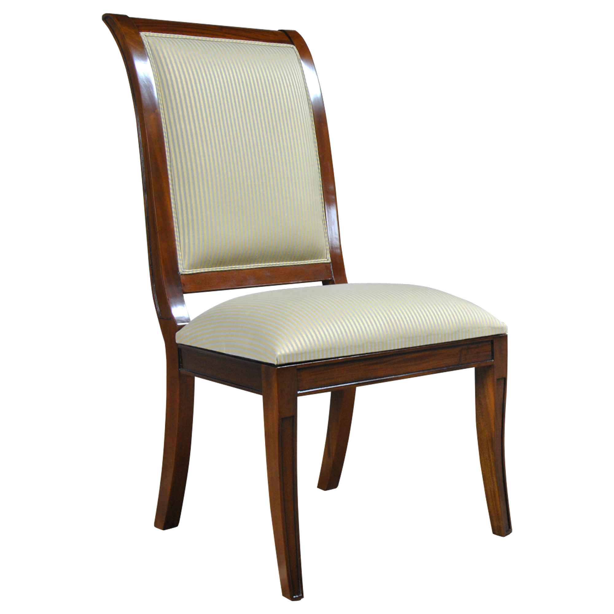 Home furniture dining room chairs regency upholstered dining chair ndrsc056 for Regency furniture living room sets