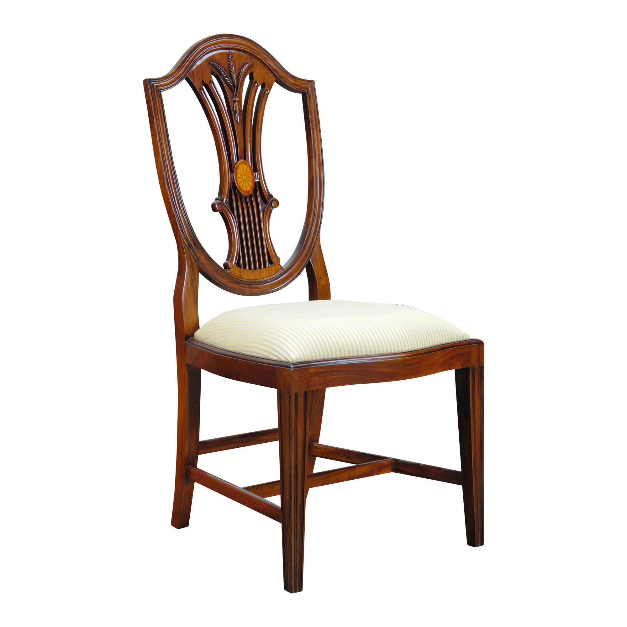 Inlaid Shield Back Chairs, Set Of 10 :: NDRAC058Z