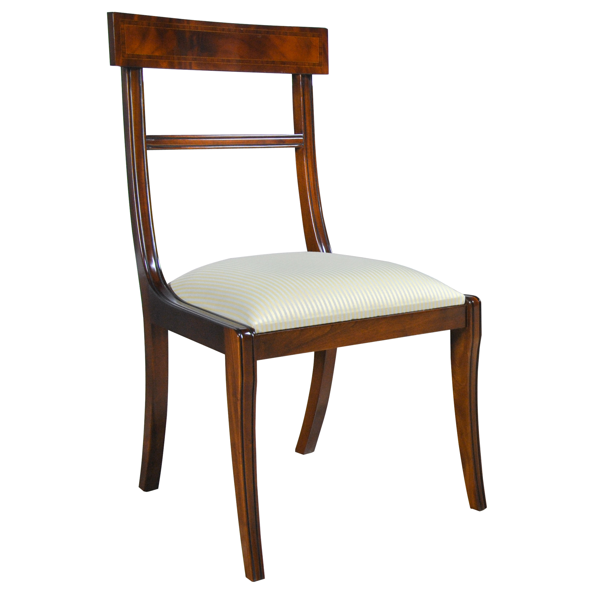 Regency inlaid side chair niagara furniture solid mahogany for Regency furniture living room sets