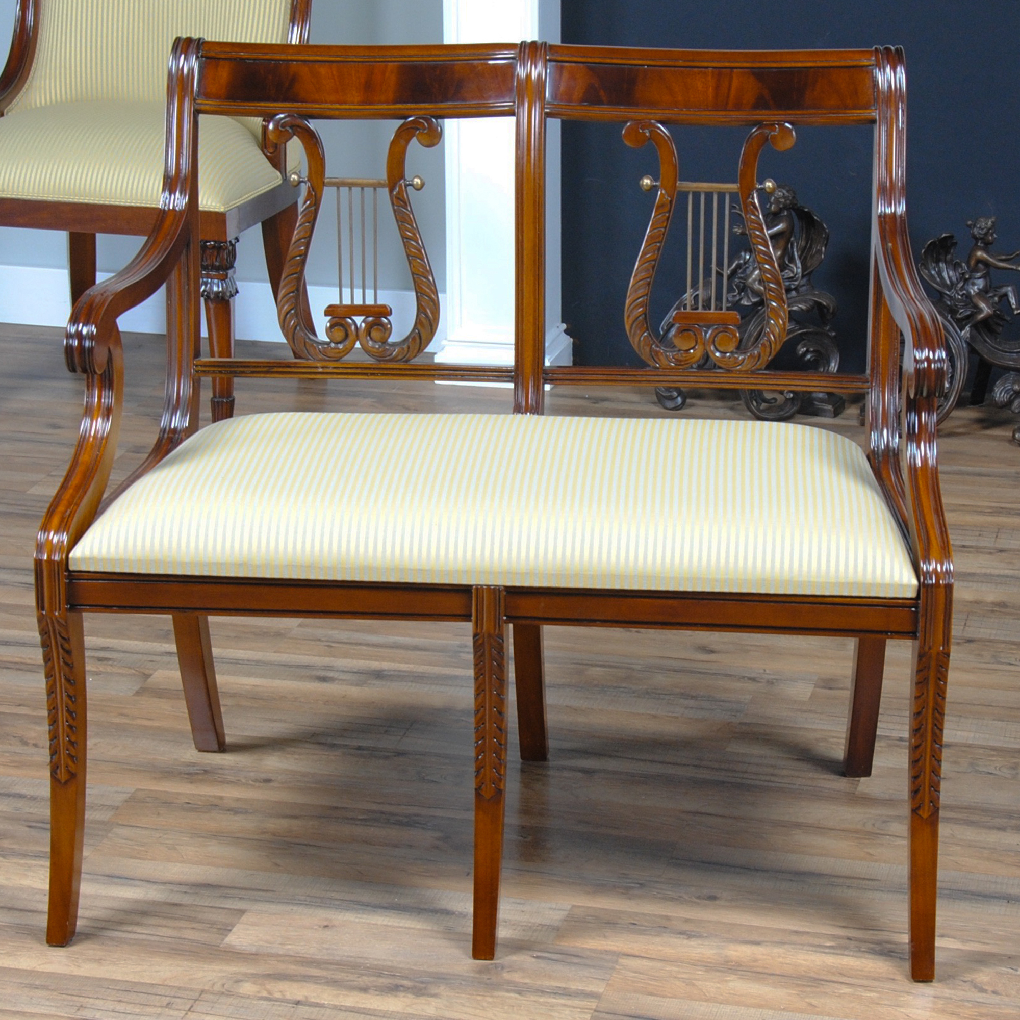 Lyre Two Seat Chair :: NLR035