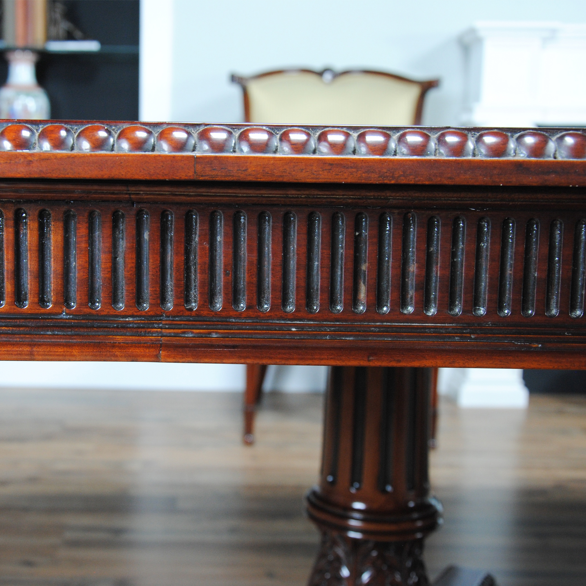 Large mahogany dining table ncmp019 for Mahogany dining room table