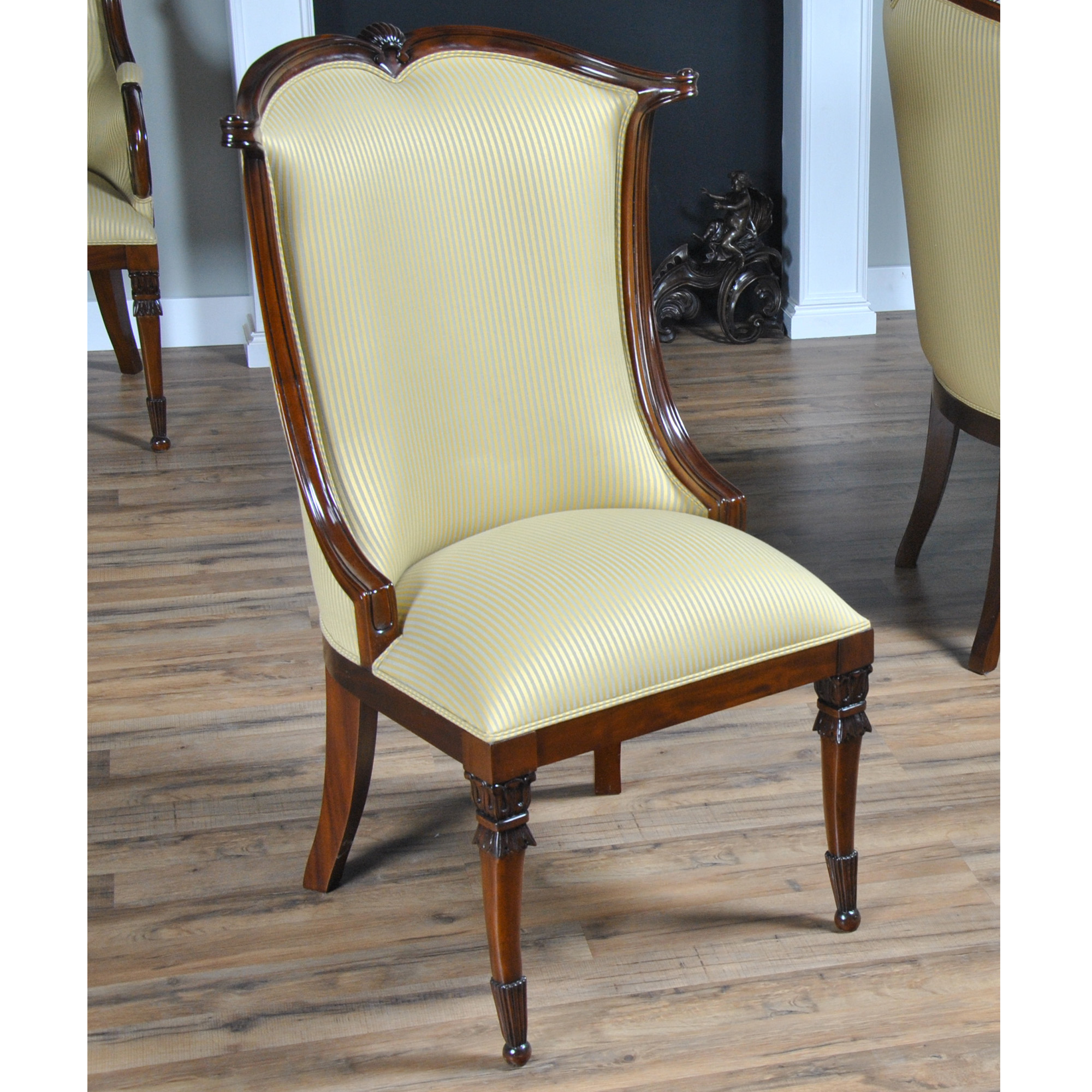 Dining Room End Chairs: American Upholstered Side Chair, Niagara Furniture, High End