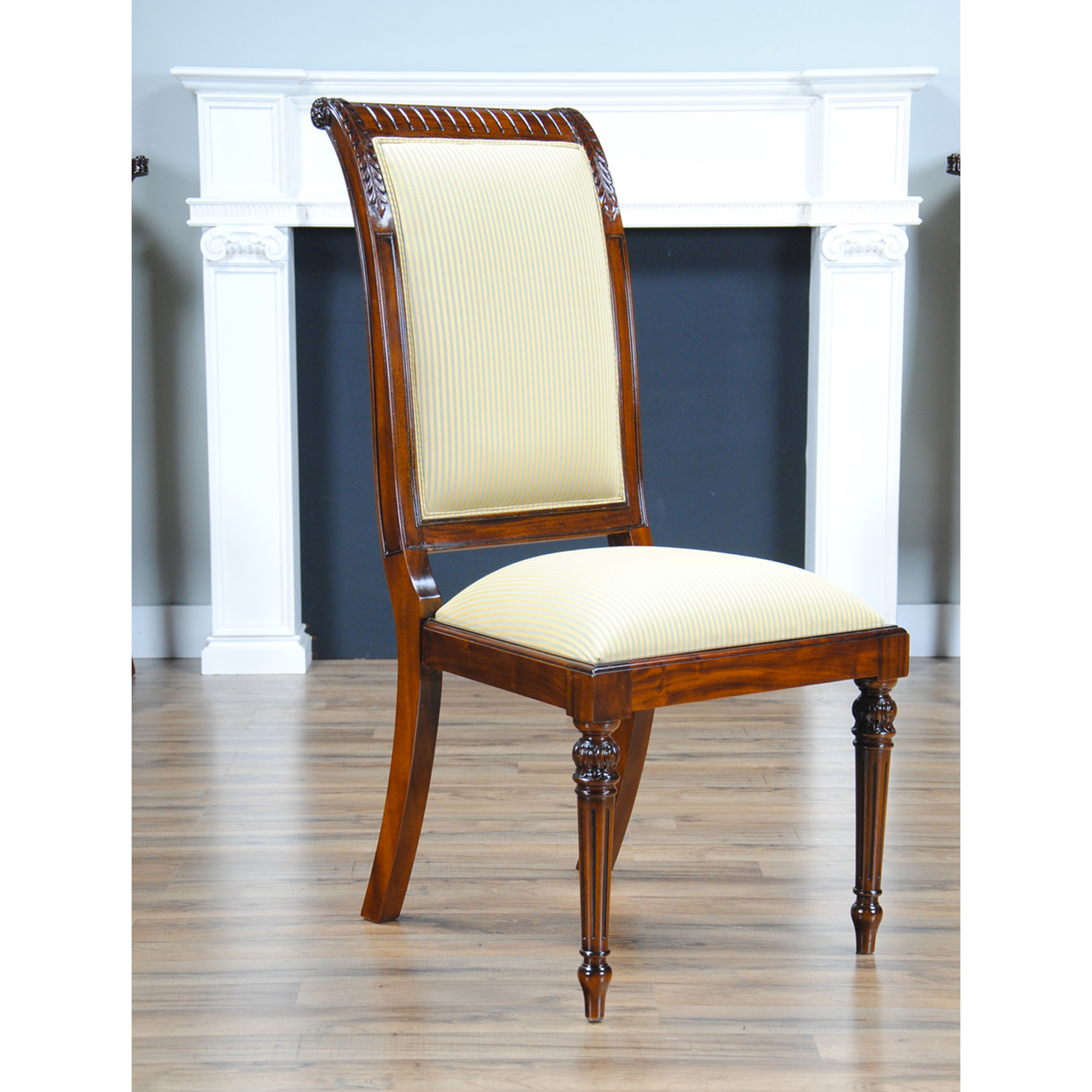 Tall back upholstered side chair niagara furniture solid for Upholstered dining room side chairs