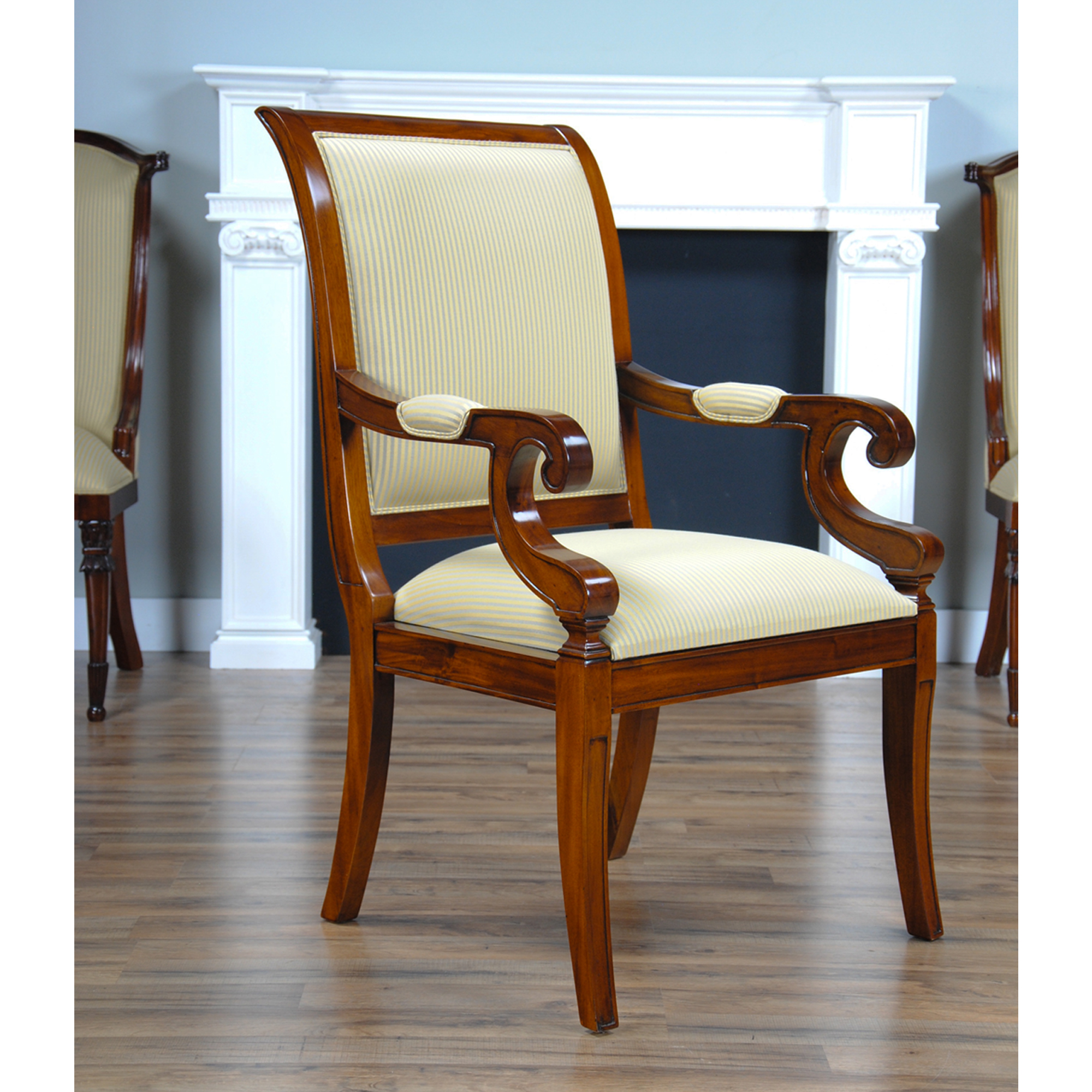 Regency Upholstered Dining Chair, Niagara Furniture, solid mahogany