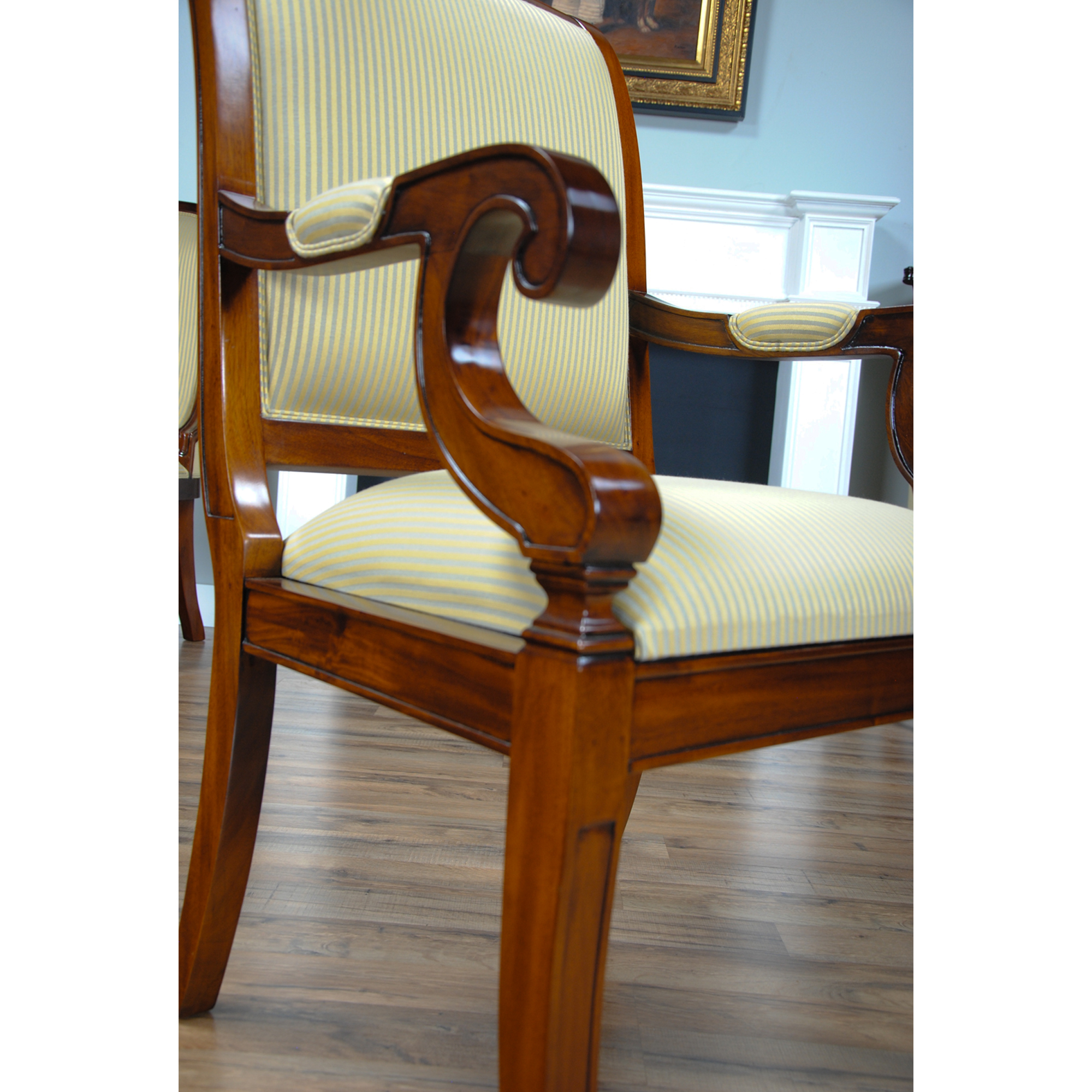 Regency Upholstered Dining Chair Niagara Furniture Solid Mahogany