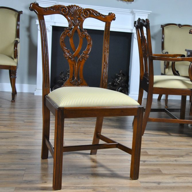 set dining of century chair furniture antique reproduction cupboard chairs chippendale iii six
