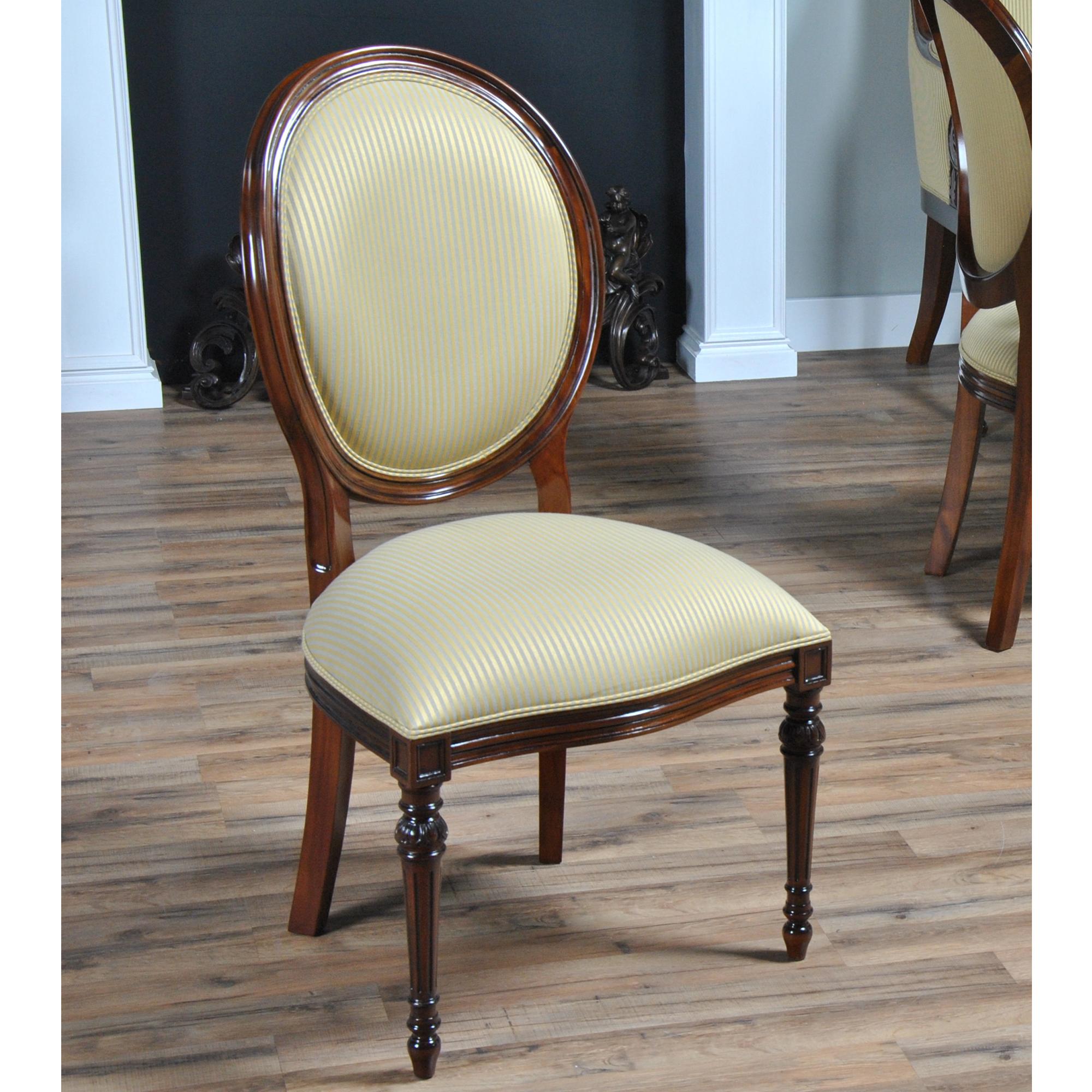 Round Back Mahogany Side Chair Niagara Furniture Solid