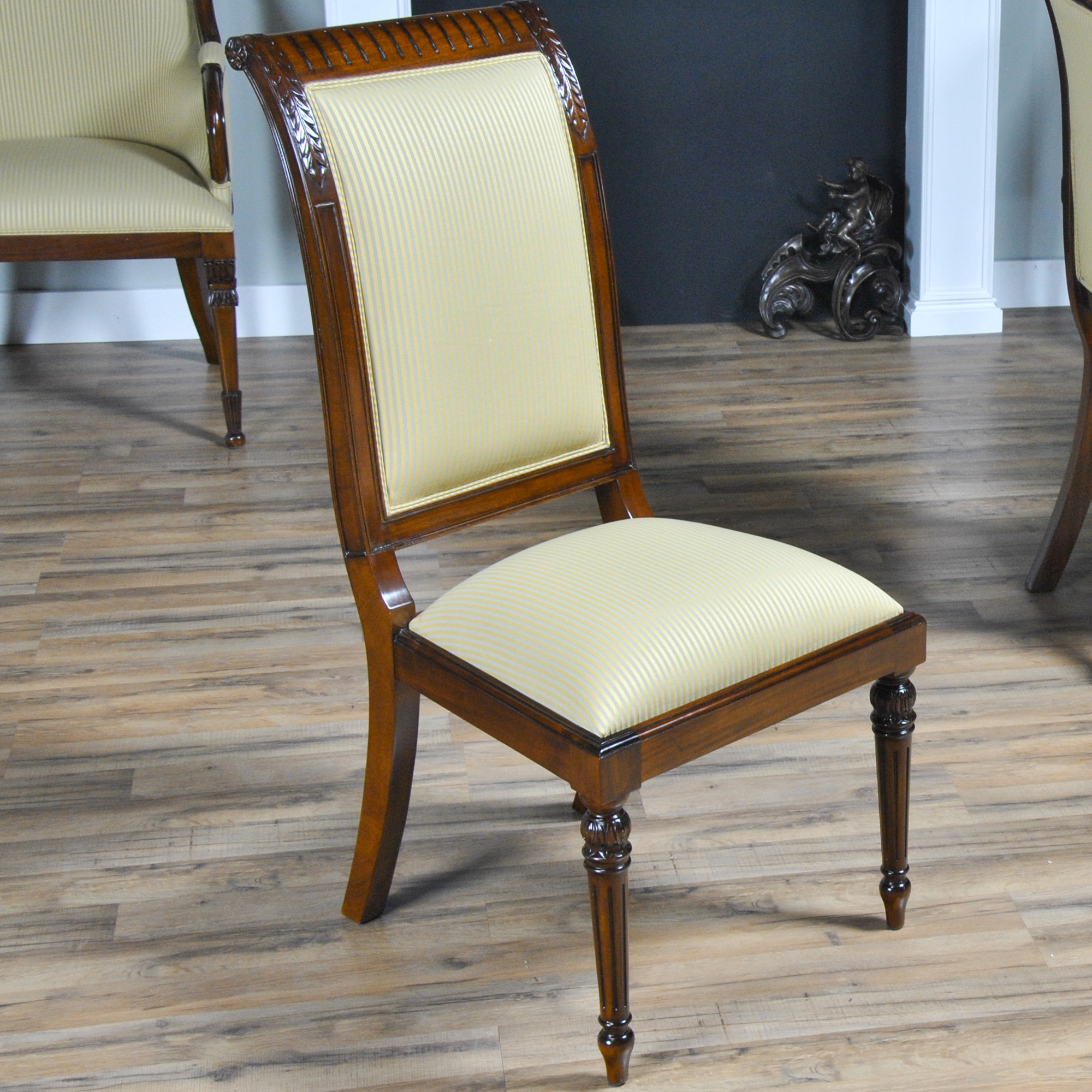 tall back upholstered side chair niagara furniture solid mahogany. Black Bedroom Furniture Sets. Home Design Ideas