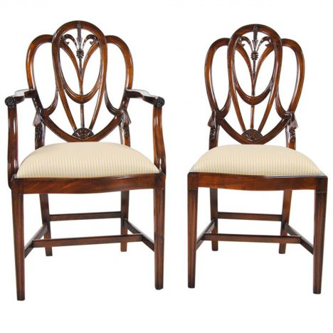 Sweet Heart Dining Chairs, Set Of 10 :: NDRAC003Z