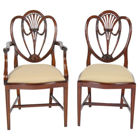 Clover Back Dining Chairs, Set Of 10 :: NDRAC004Z