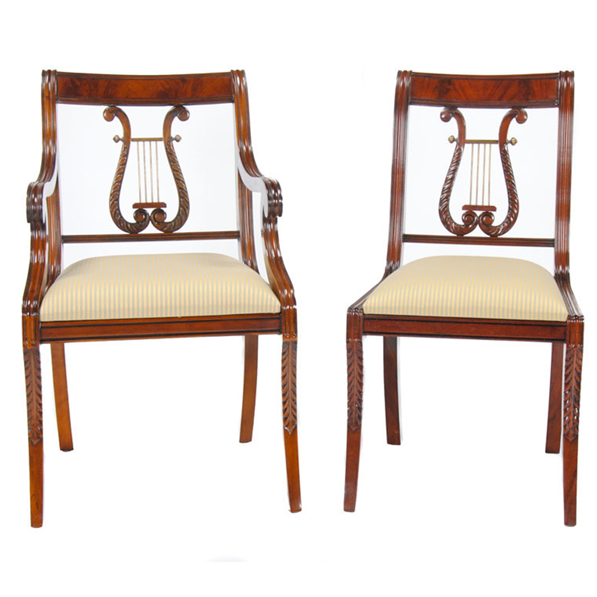 Dining Room Chair Rail Lyre Chair Or Harp Back Chairs Niagara Furniture Set Of 10