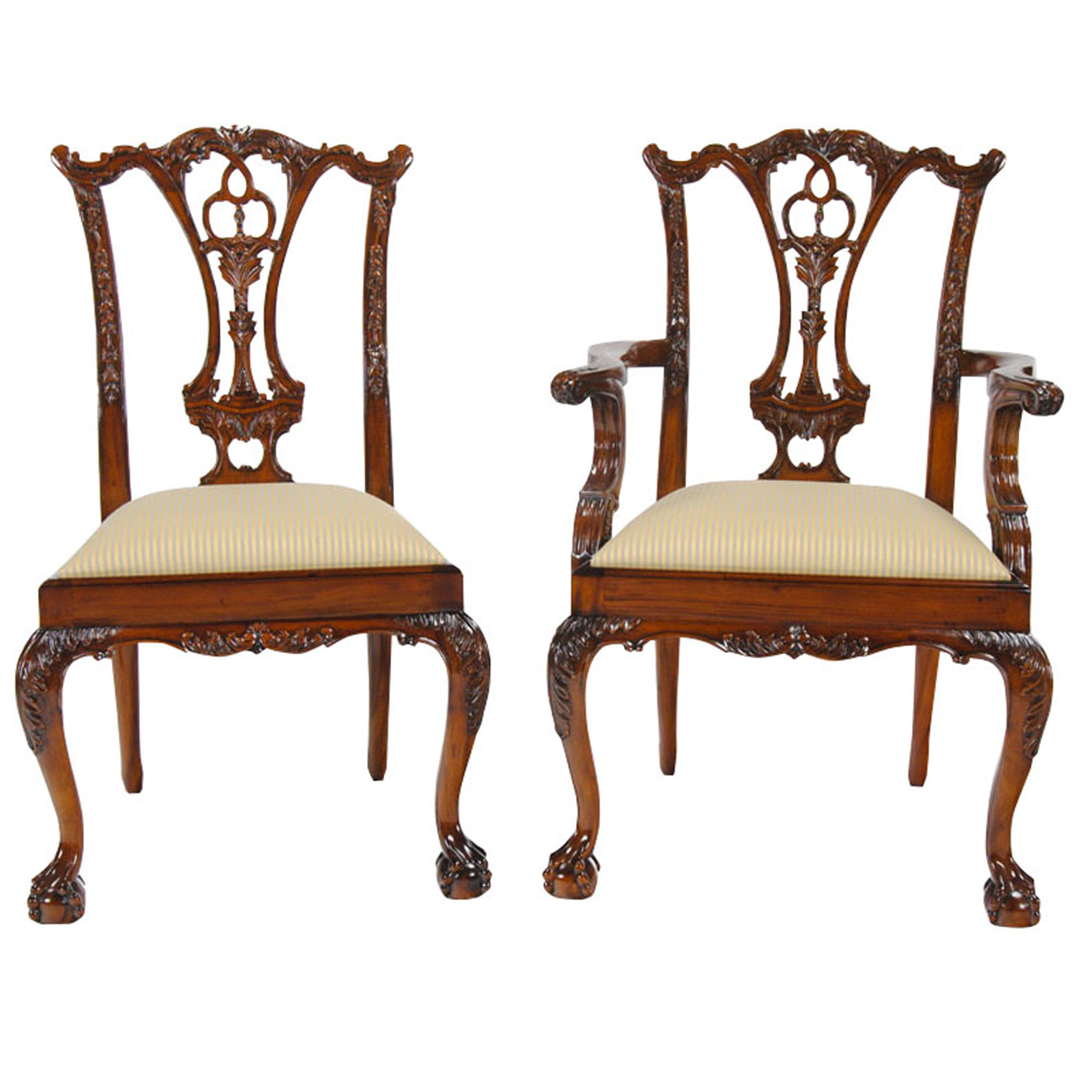 Chippendale Furniture: Standard Chippendale Chairs, Set Of Ten, Niagara Furniture