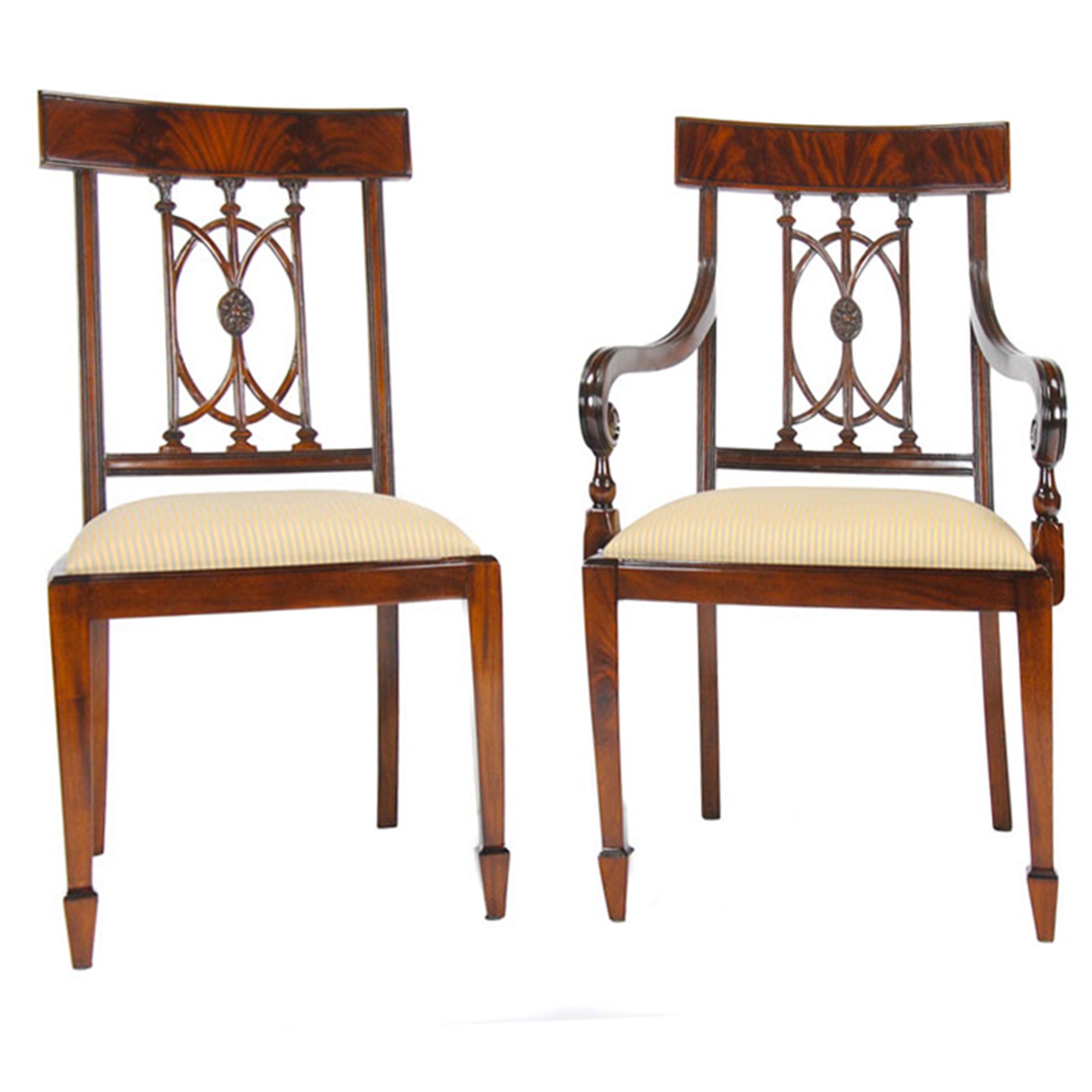 Mahogany Hepplewhite Chairs Set of 10 Niagara Furniture