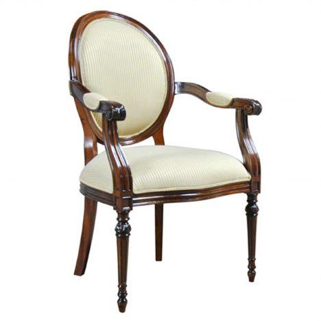 Round Back Mahogany Chair :: NDRAC046