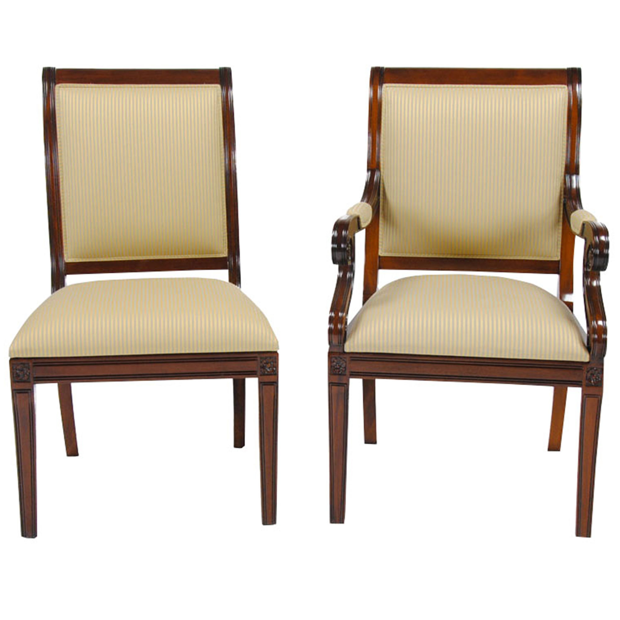 Regency Upholstered Chairs Set Of 10 Niagara Furniture Solid Mahogany