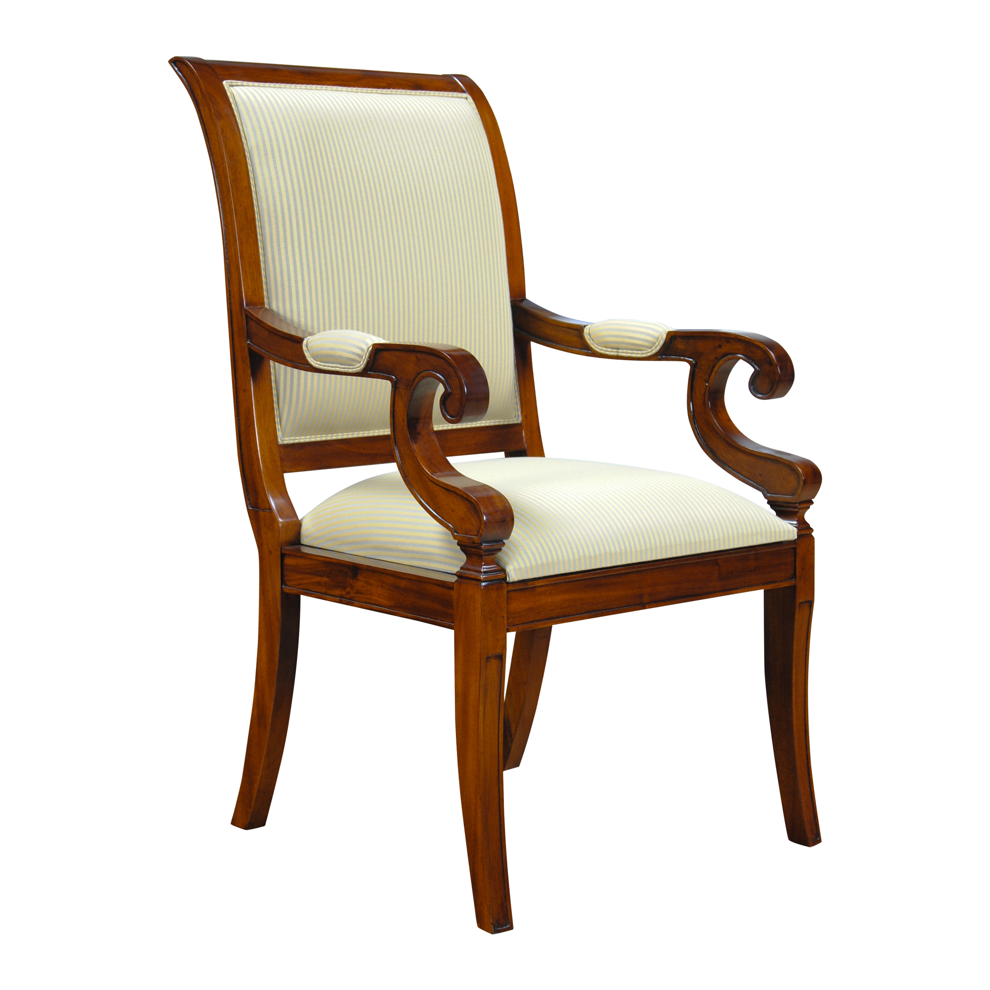 Regency upholstered dining chair niagara furniture solid for Dining chairs with upholstered seats