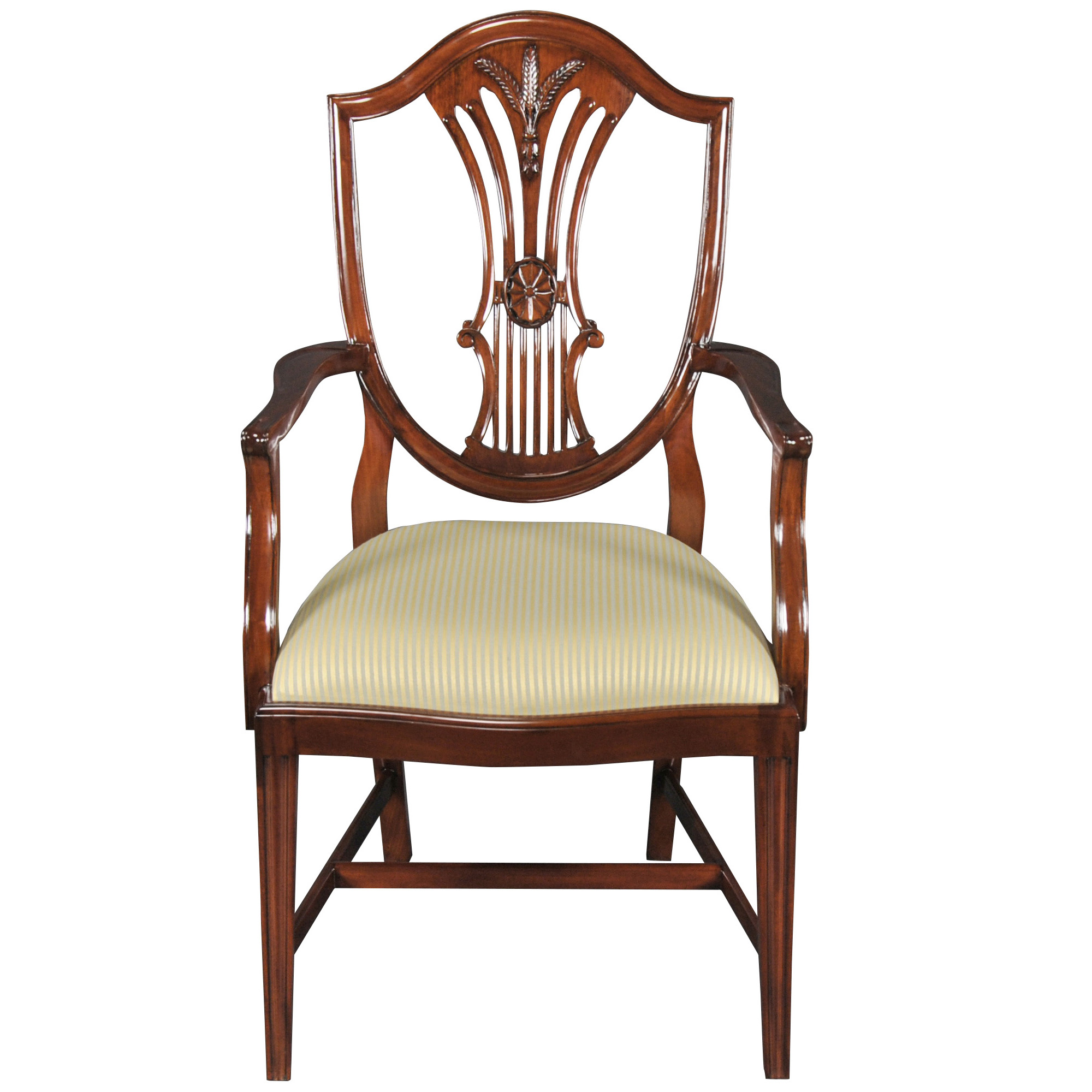 Shield Back Dining Room Chairs: Shield Back Dining Room Arm Chair, Niagara Furniture, Free
