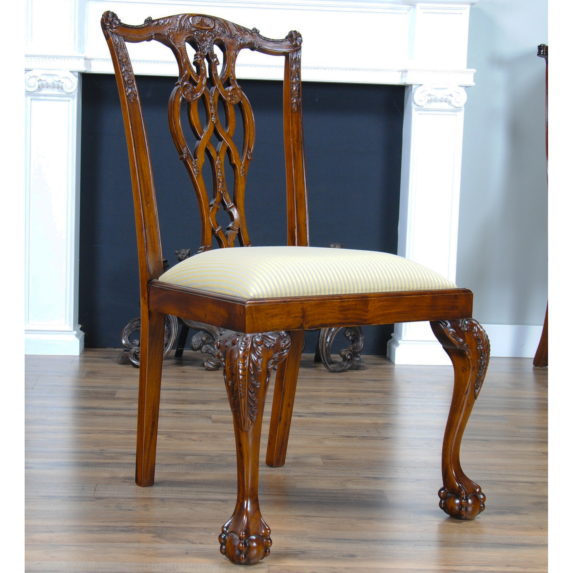 Devon Style Chairs Set Of 10 Solid Mahogany Niagara
