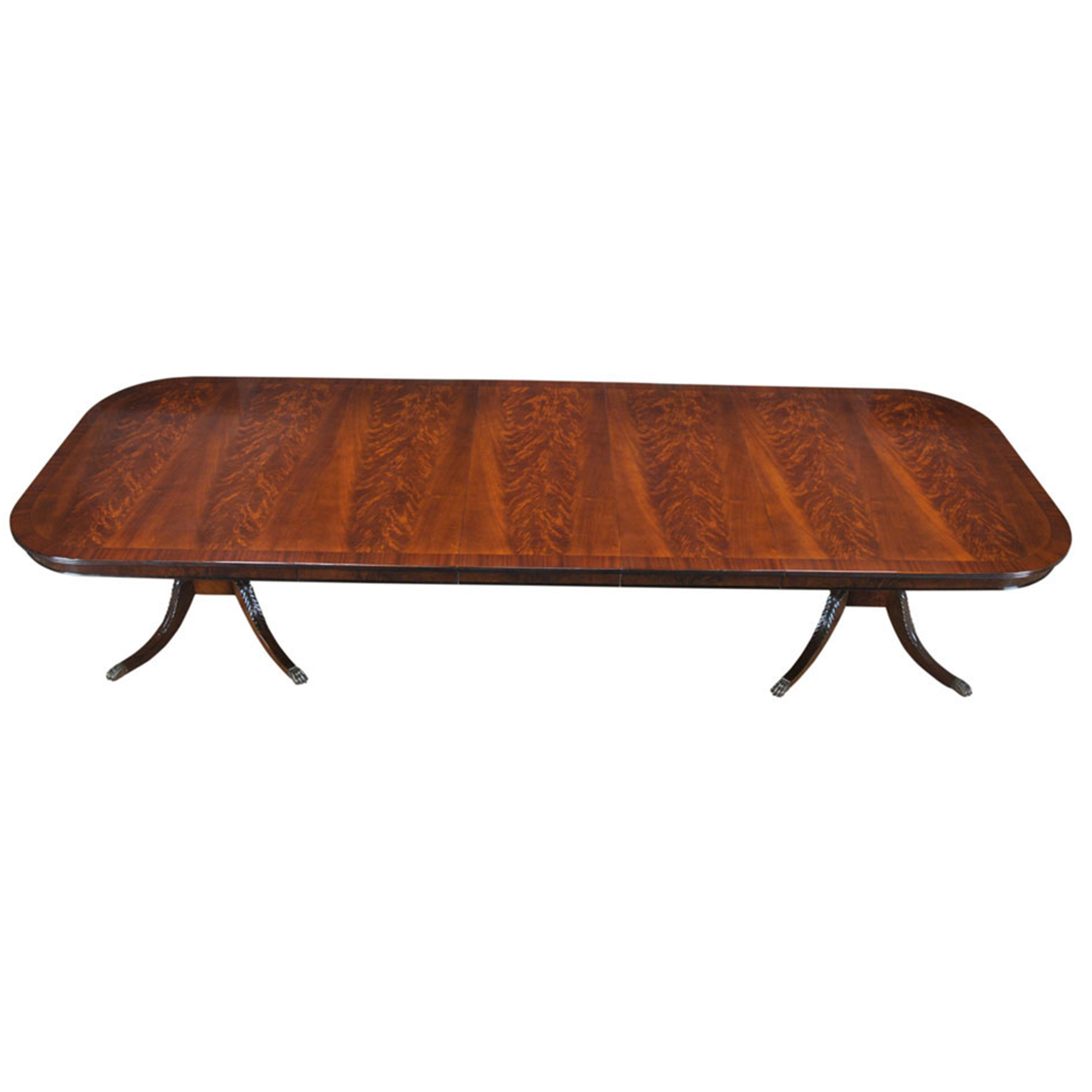Long Harp Base Dining Table, Niagara Furniture, mahogany table