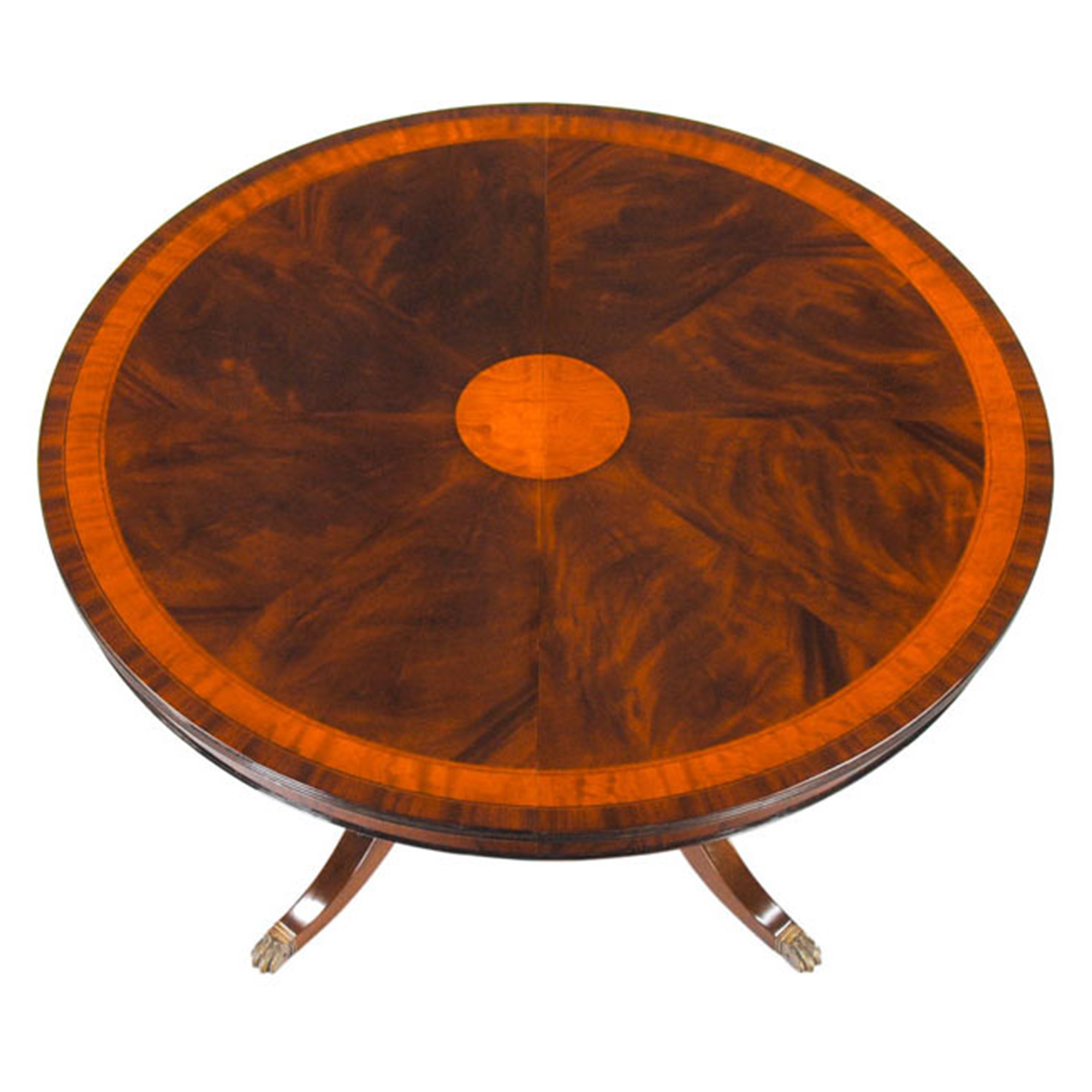 54 90 round mahogany table niagara furniture round for Dining room table 90 inch
