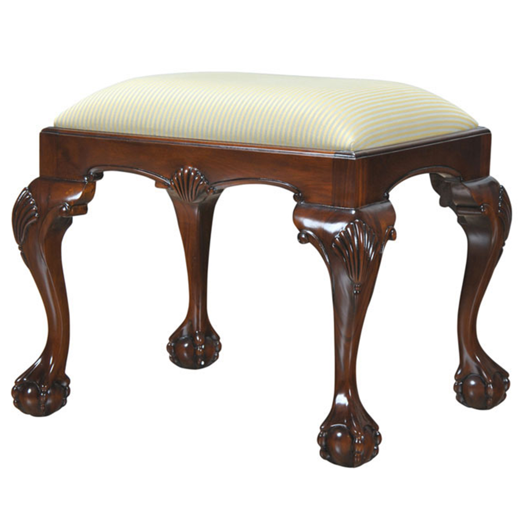 Small Chippendale Bench Niagara Furniture Solid Mahogany Bench